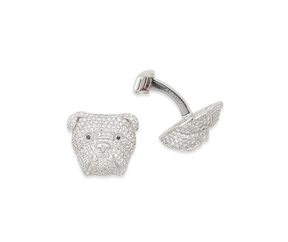 A pair of diamond cufflinks, by Alfred Dunhill