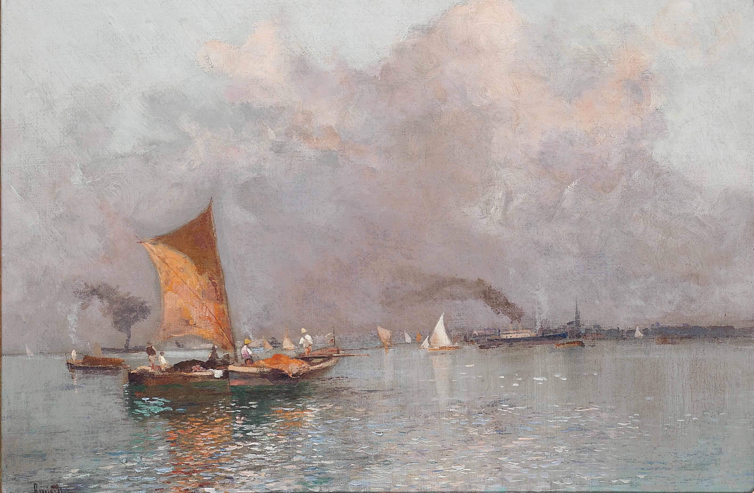 Fishing vessels off the Neapolitan coast