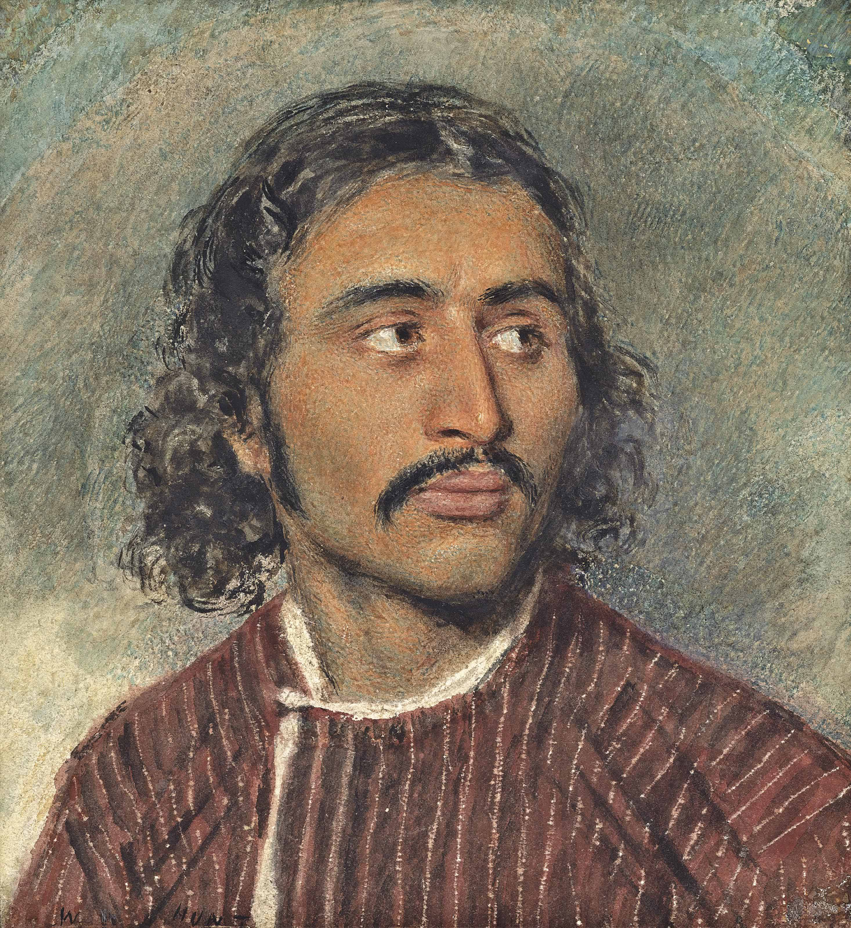 Study of the head of an Arab