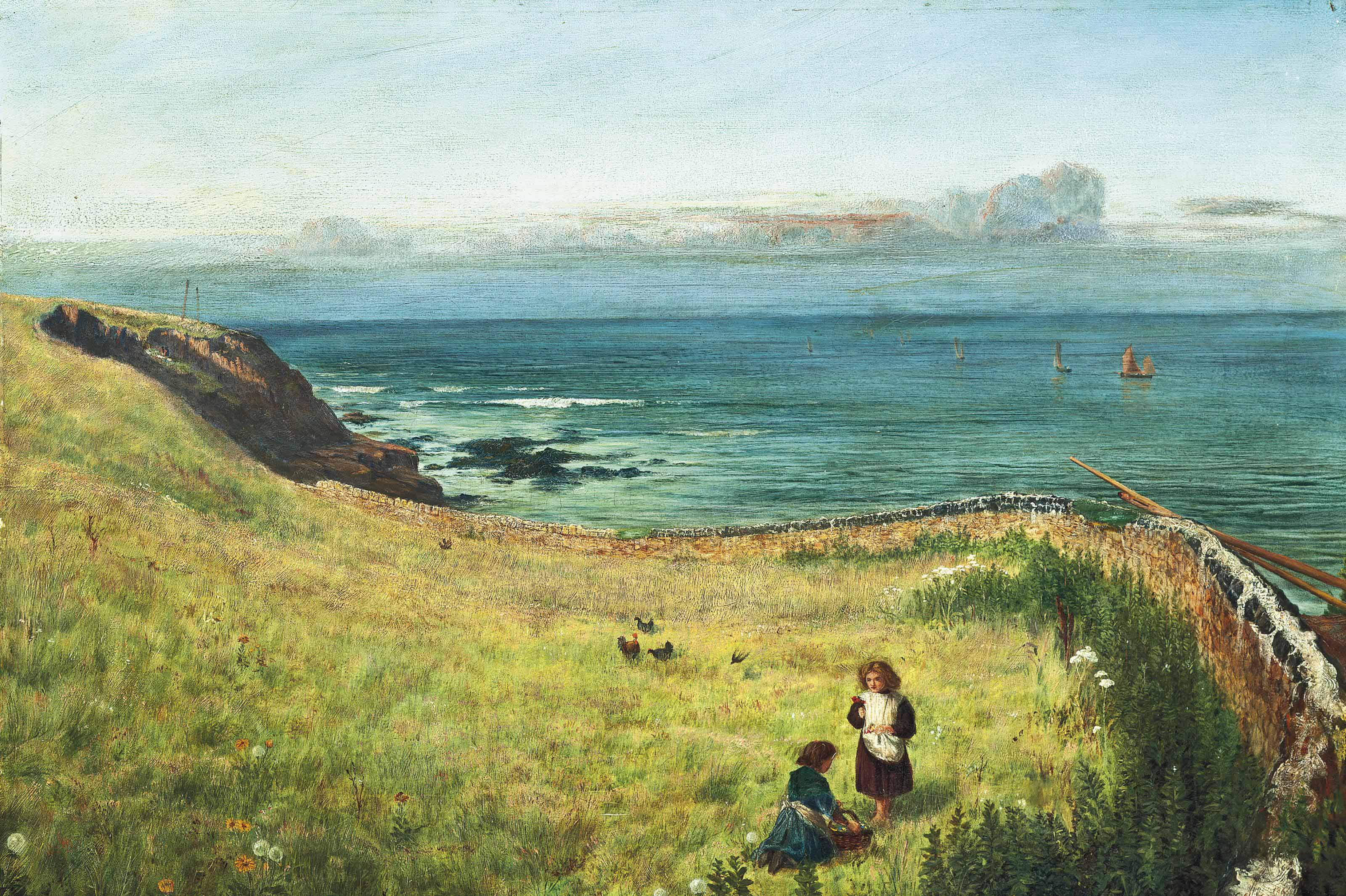 The meadow by the sea