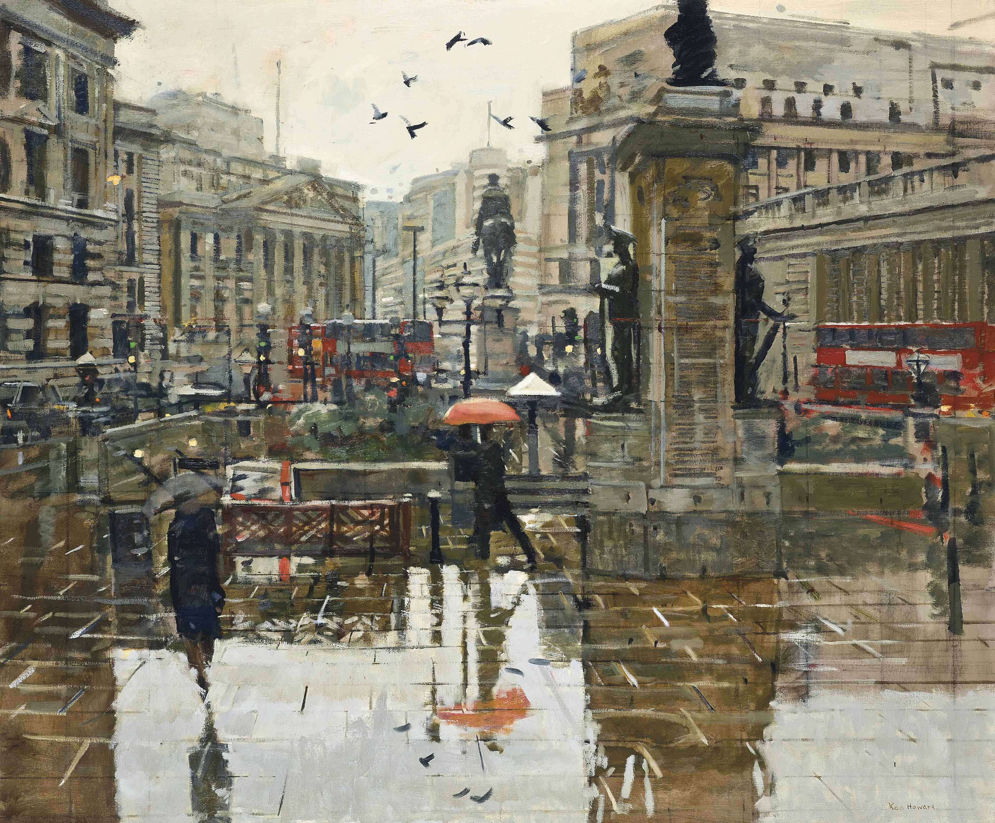 From the Royal Exchange, rain effect