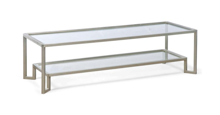 A TWO-TIER WHITE METAL OCCASIO