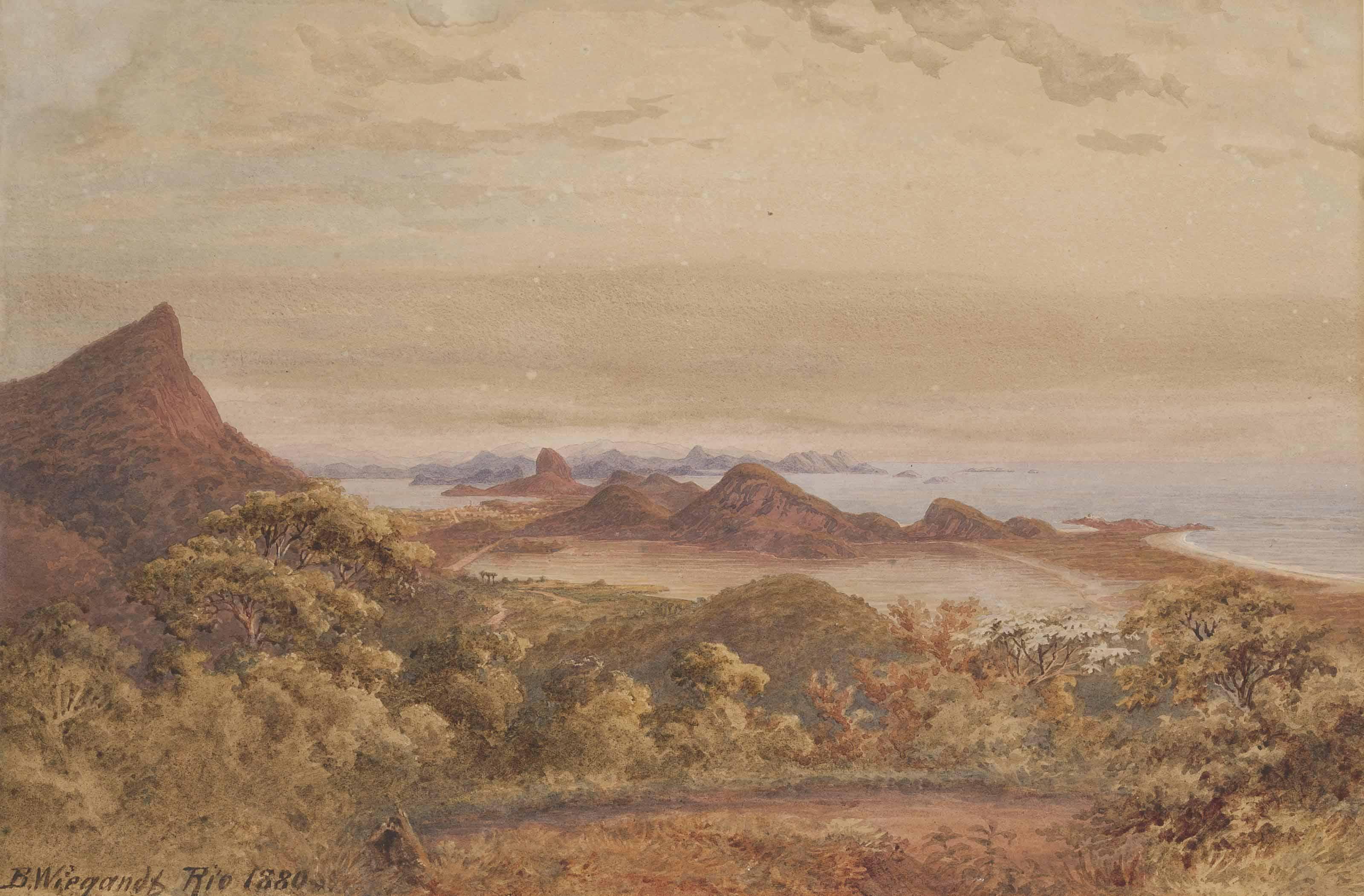A view of Rio de Janiero, taken from the west