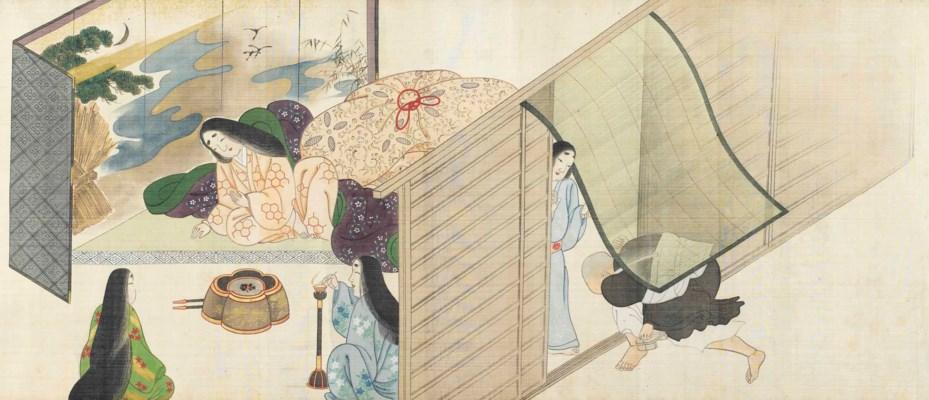 A Japanese Shunga Scroll