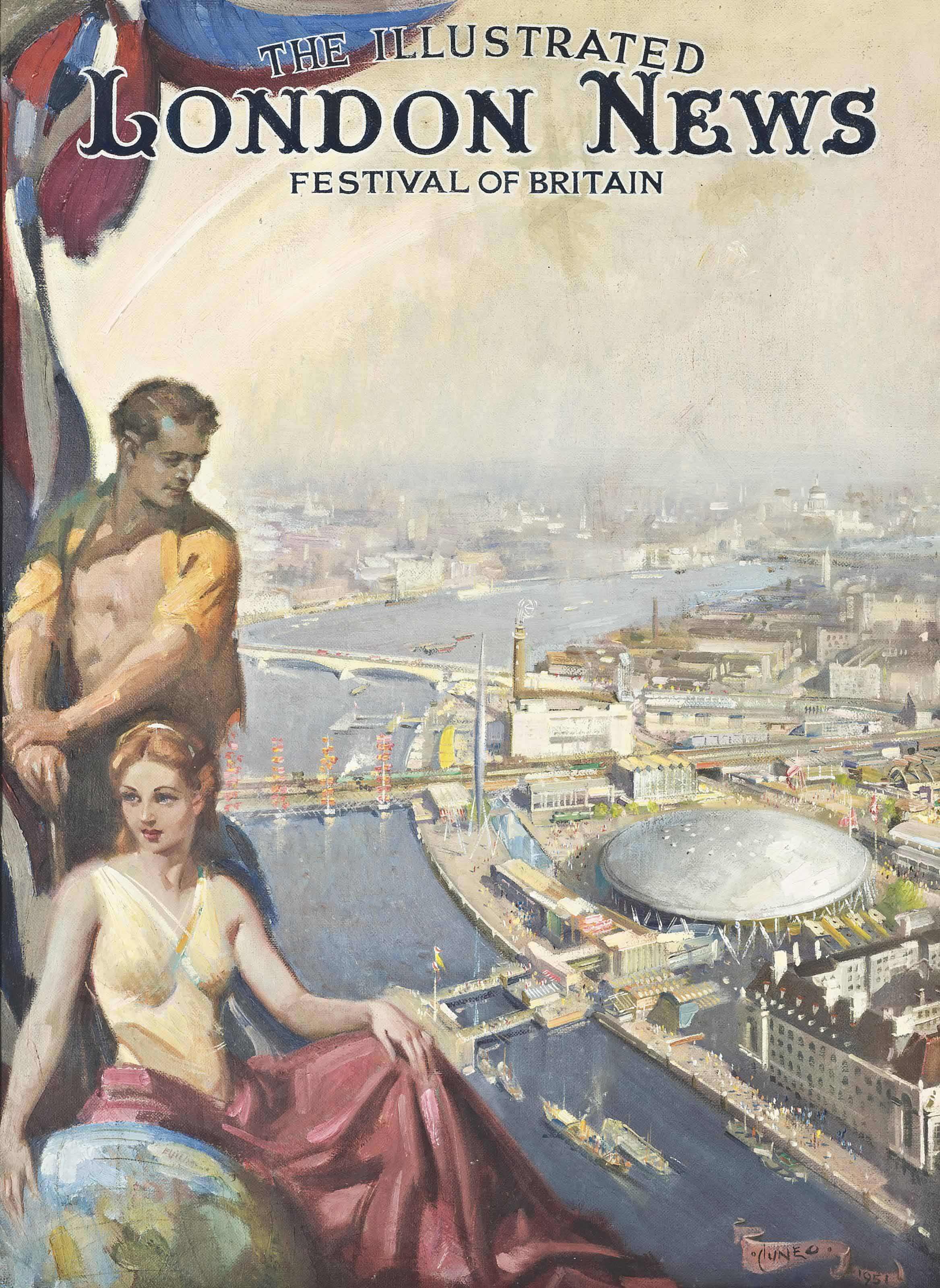 The front cover of the Festival of Britain edition of The Illustrated London News, 1951