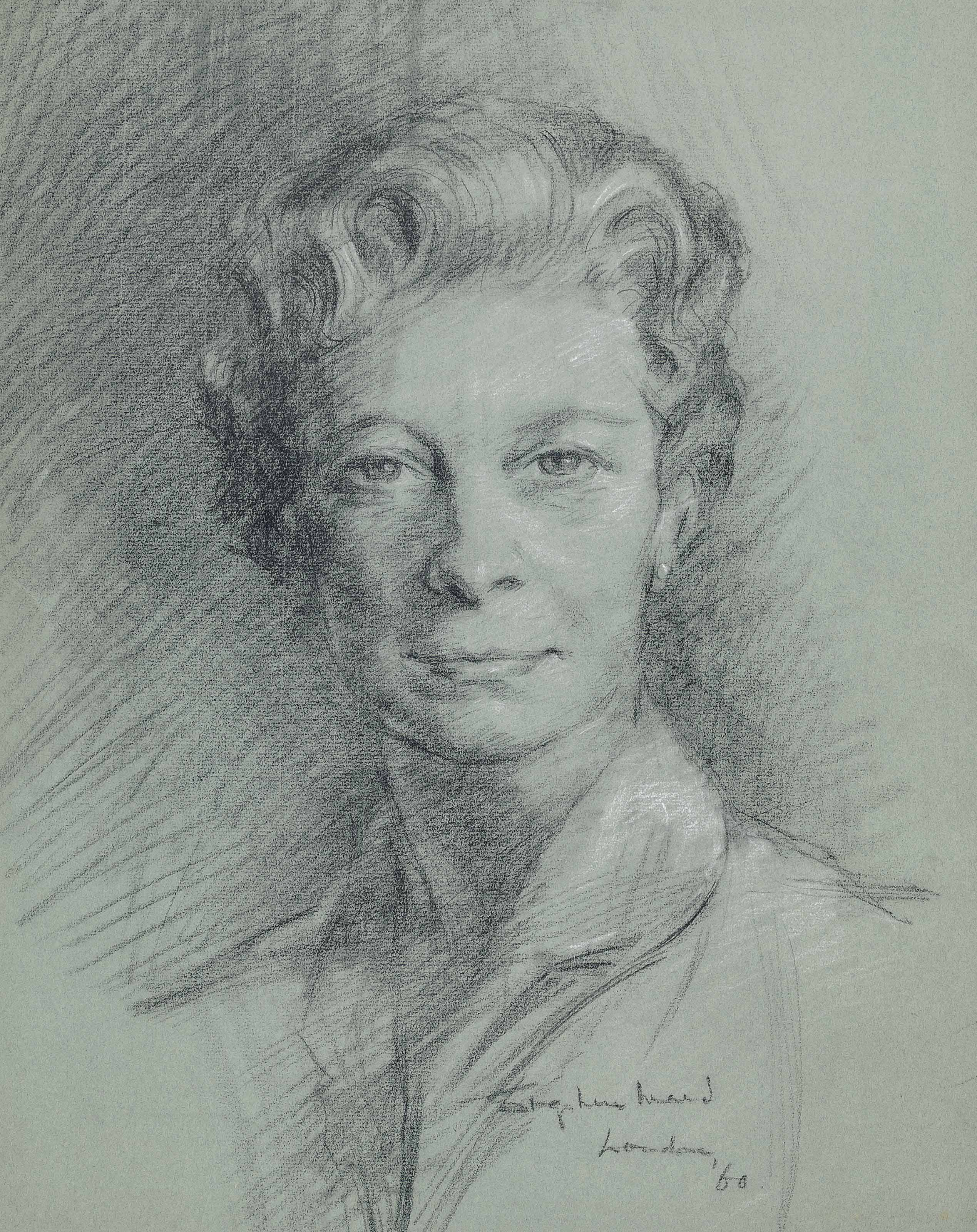 Two portraits of H.R.H. Princess Mary, Countess of Harewood (one illustrated)