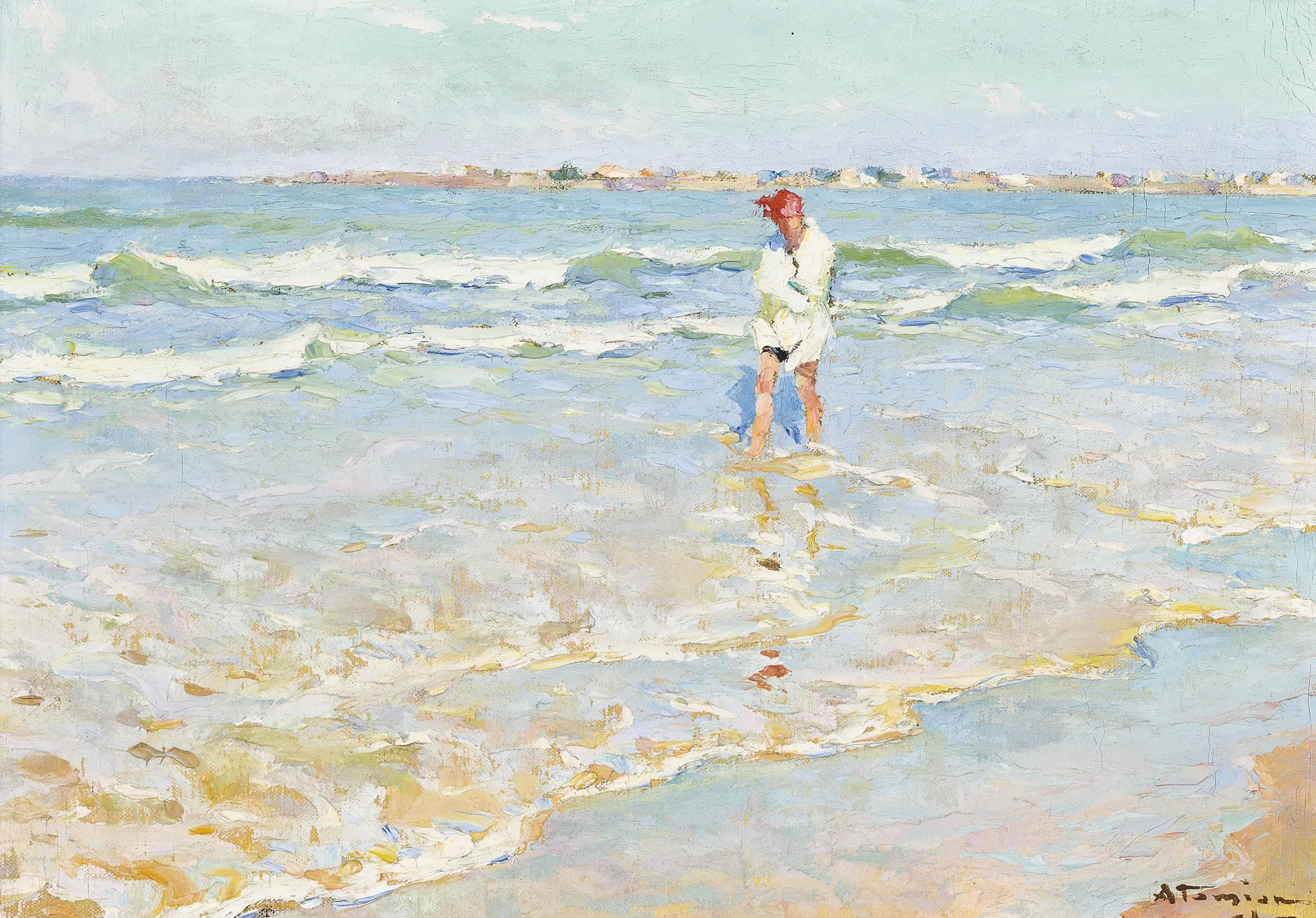 On the shore, possibly Saint-Gilles-sur-Vie, France