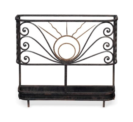 A FRENCH ART DECO WROUGHT IRON