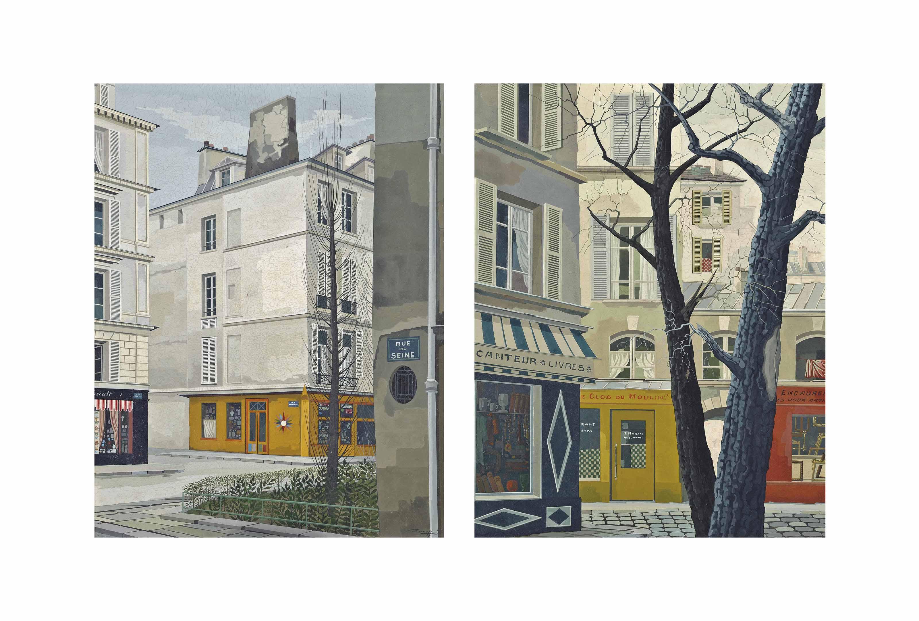 Un Coin dans St. Germain; and Restaurant Clos Du Moulin De Saint Germain des Prés