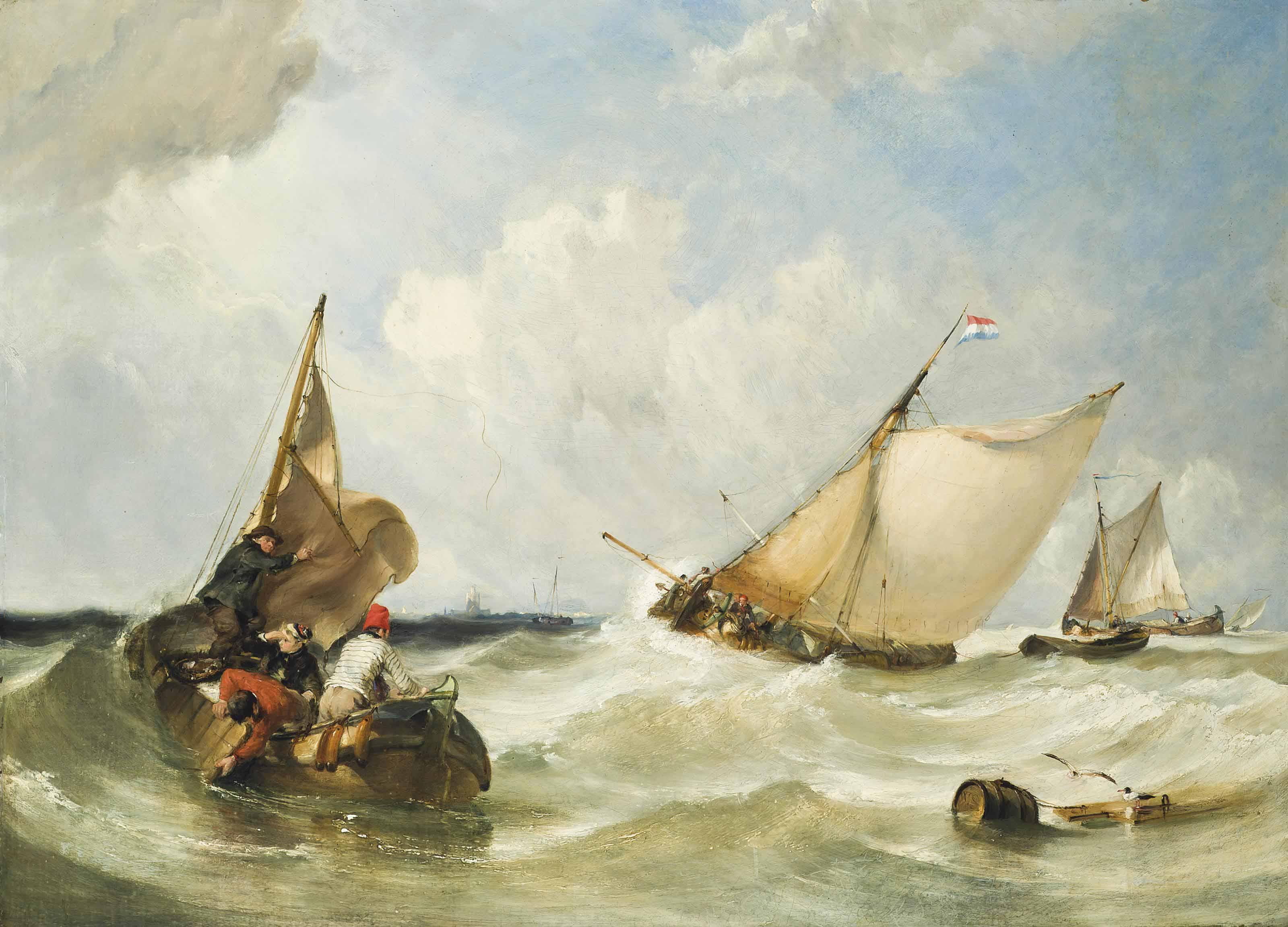 Fishing boats off Briel