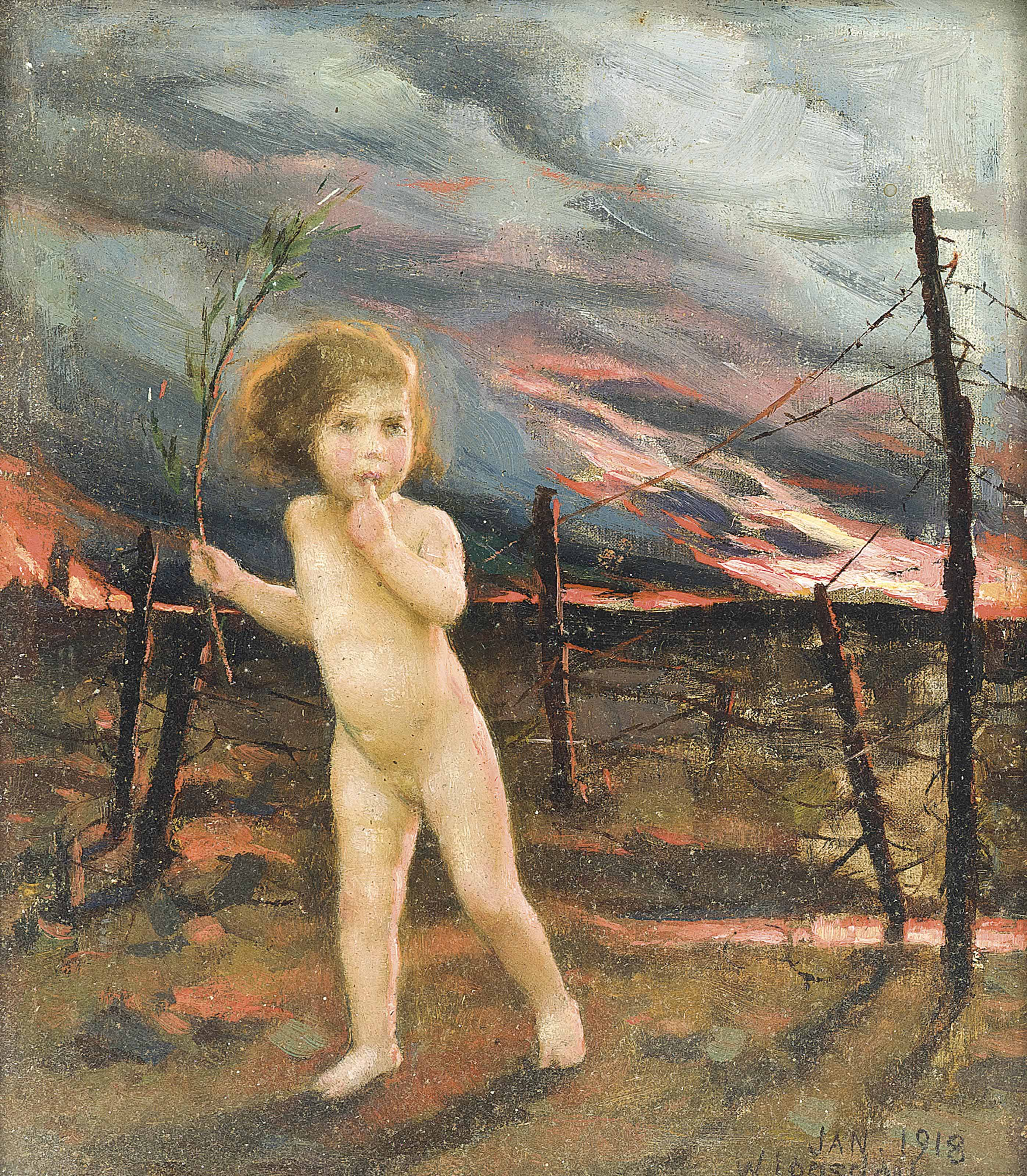 An allegory of war: Peace lost in no man's land