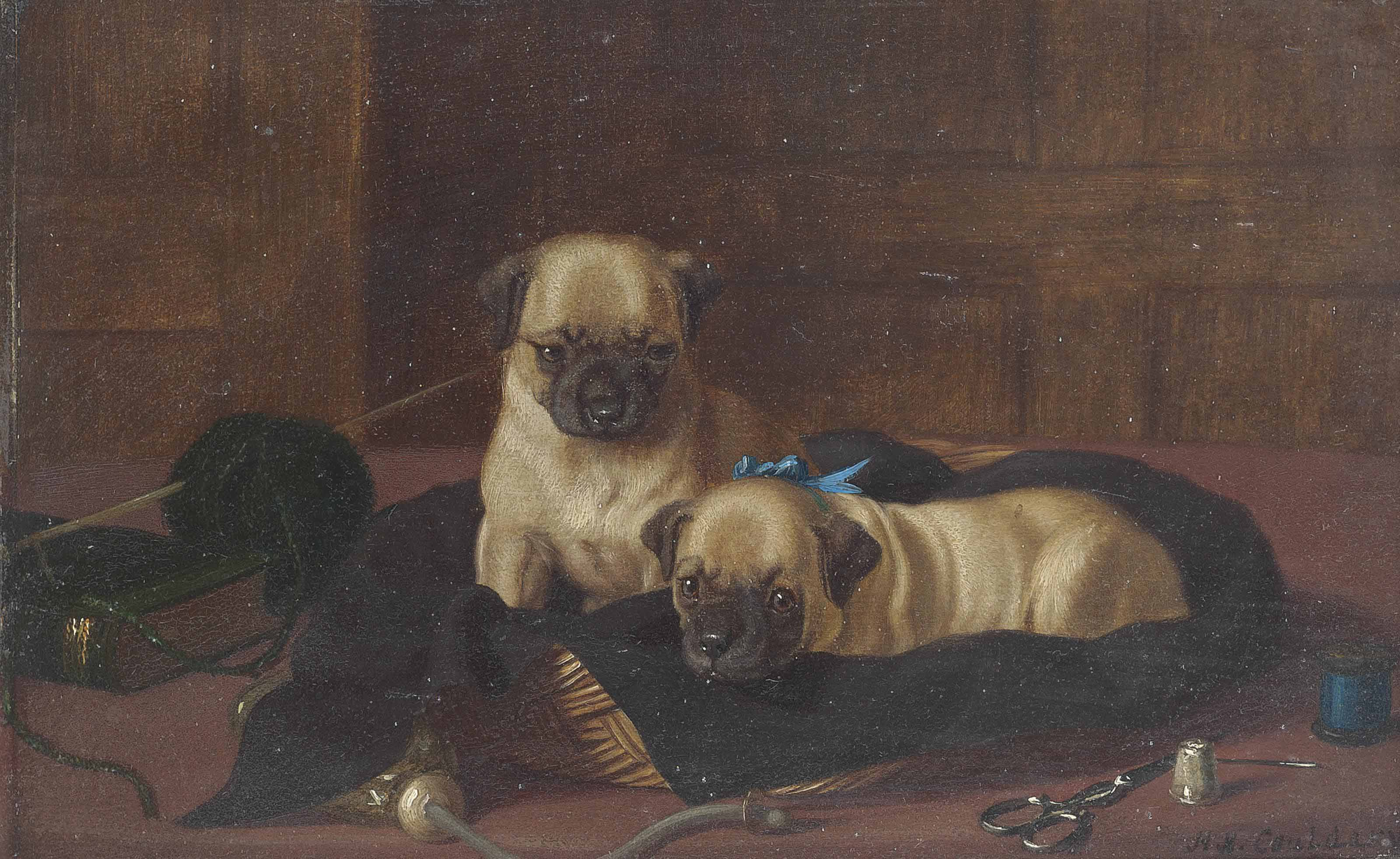 The seamstresses' pugs