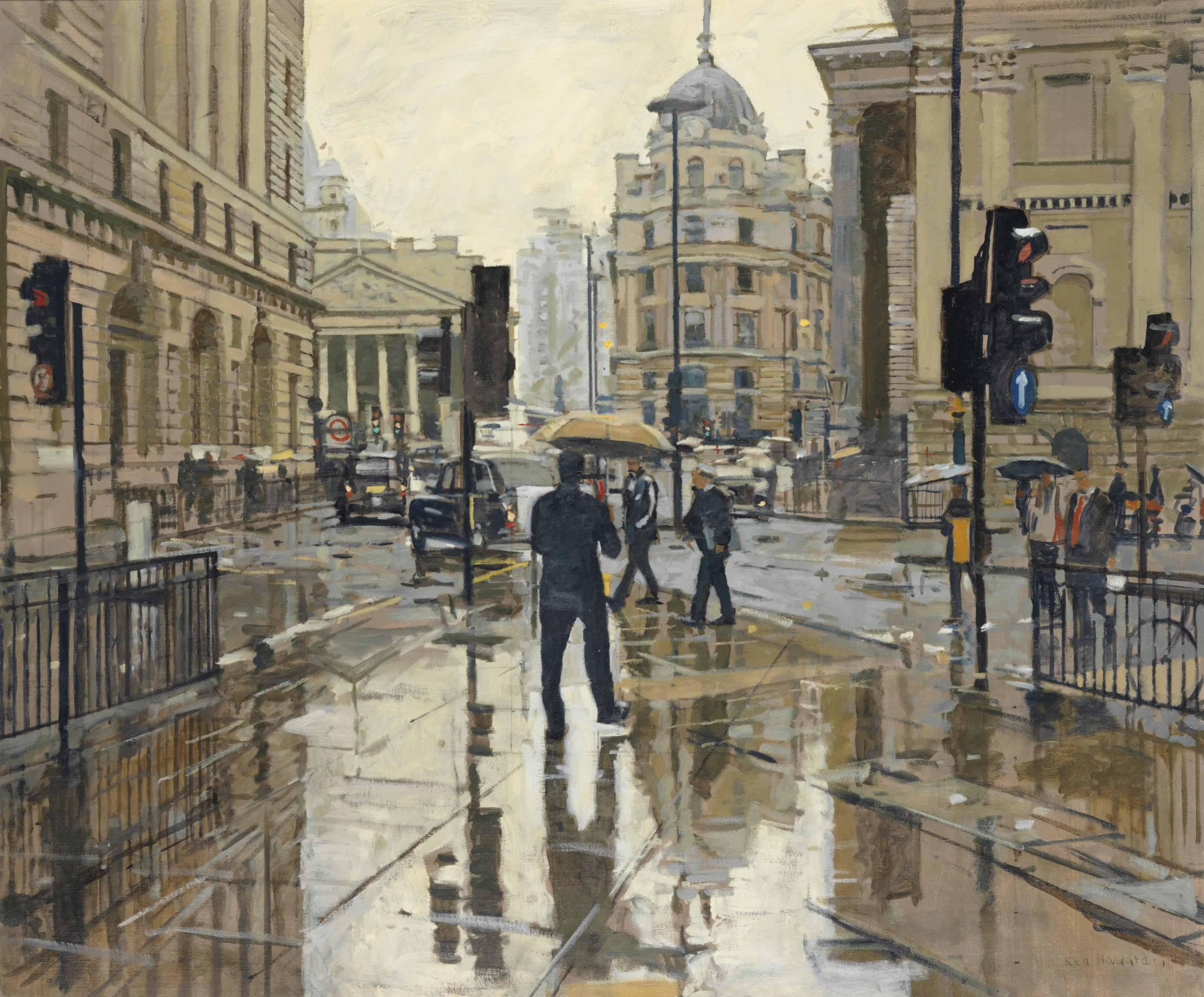 The City of London, rain effect