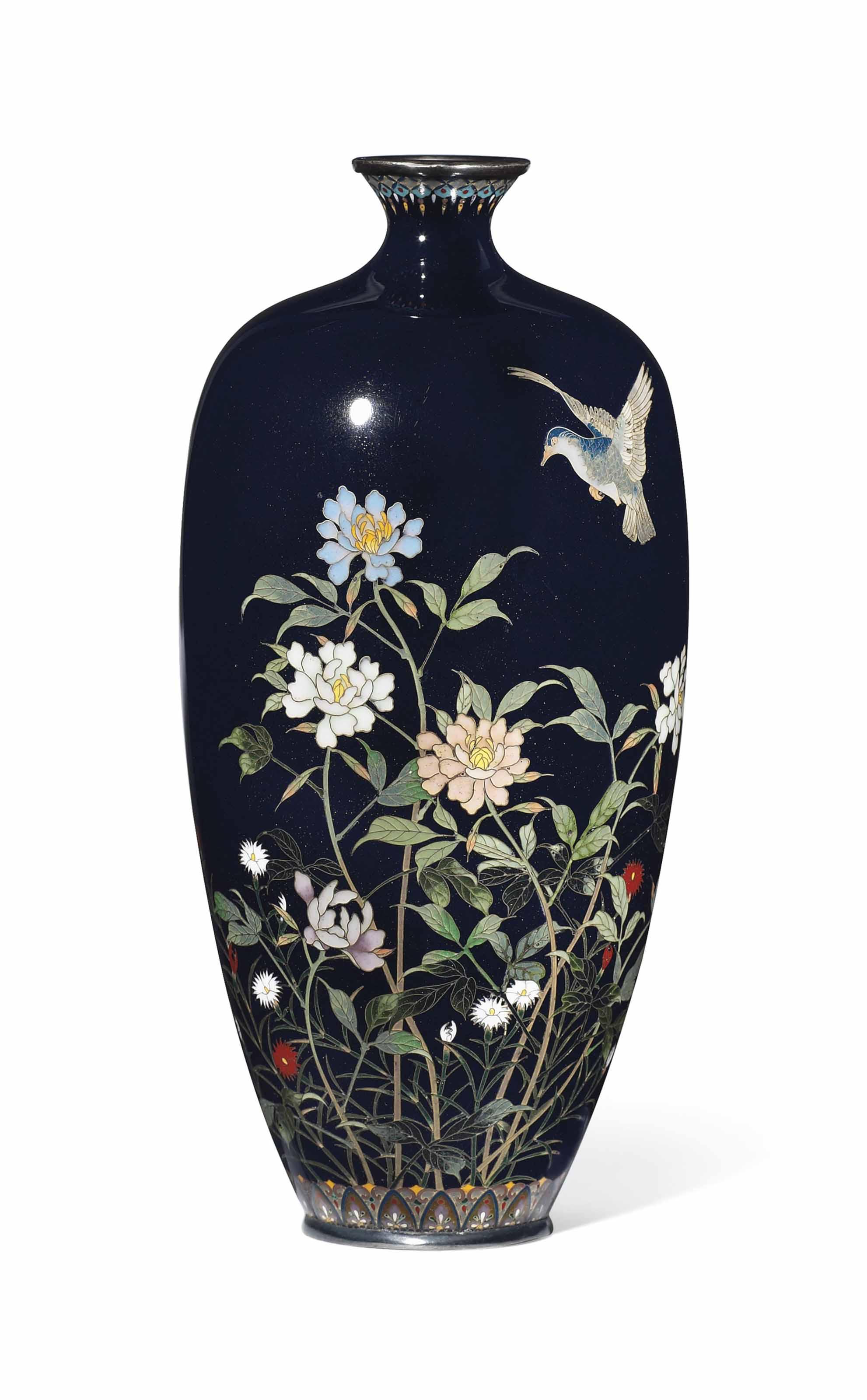 A Hayashi Kodenji Cloisonné Vase