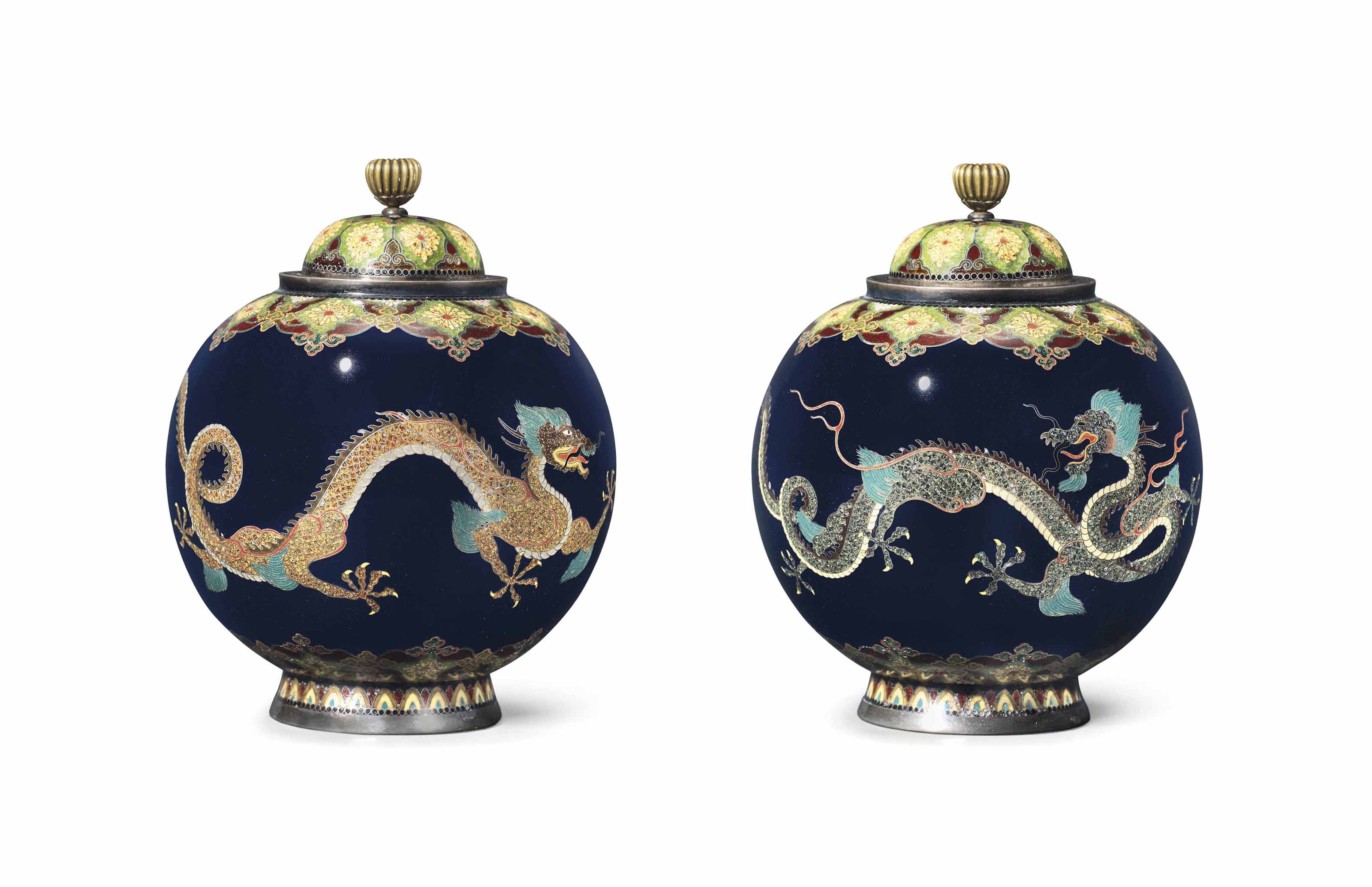 A Cloisonné Vase and Cover