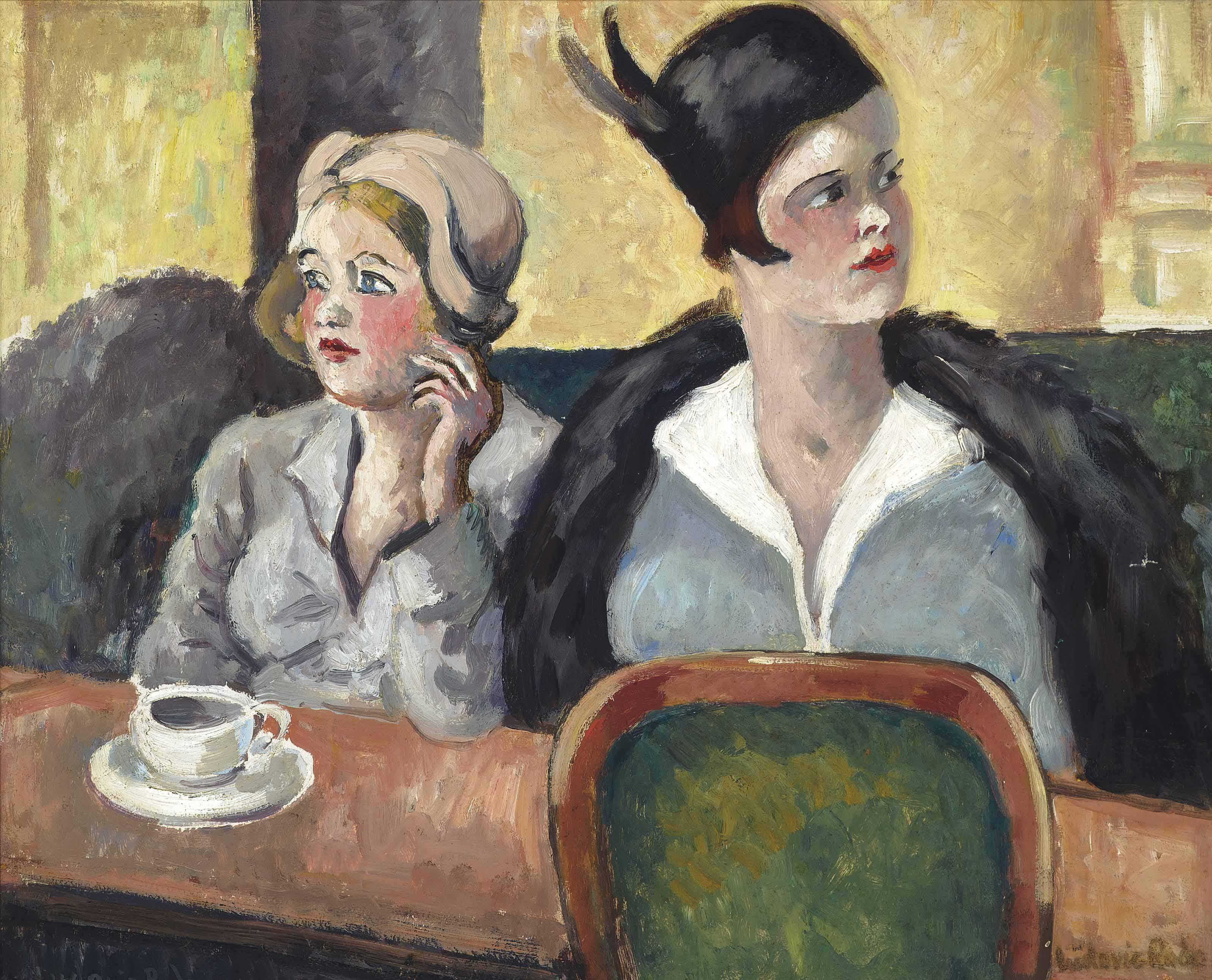 Deux femmes au café