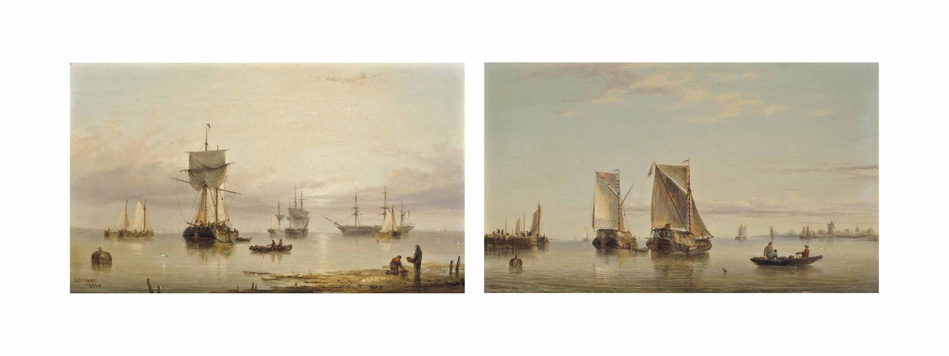Waiting for the tide; and Dutch hay barges at the mouth of the Scheldt (both illustrated)