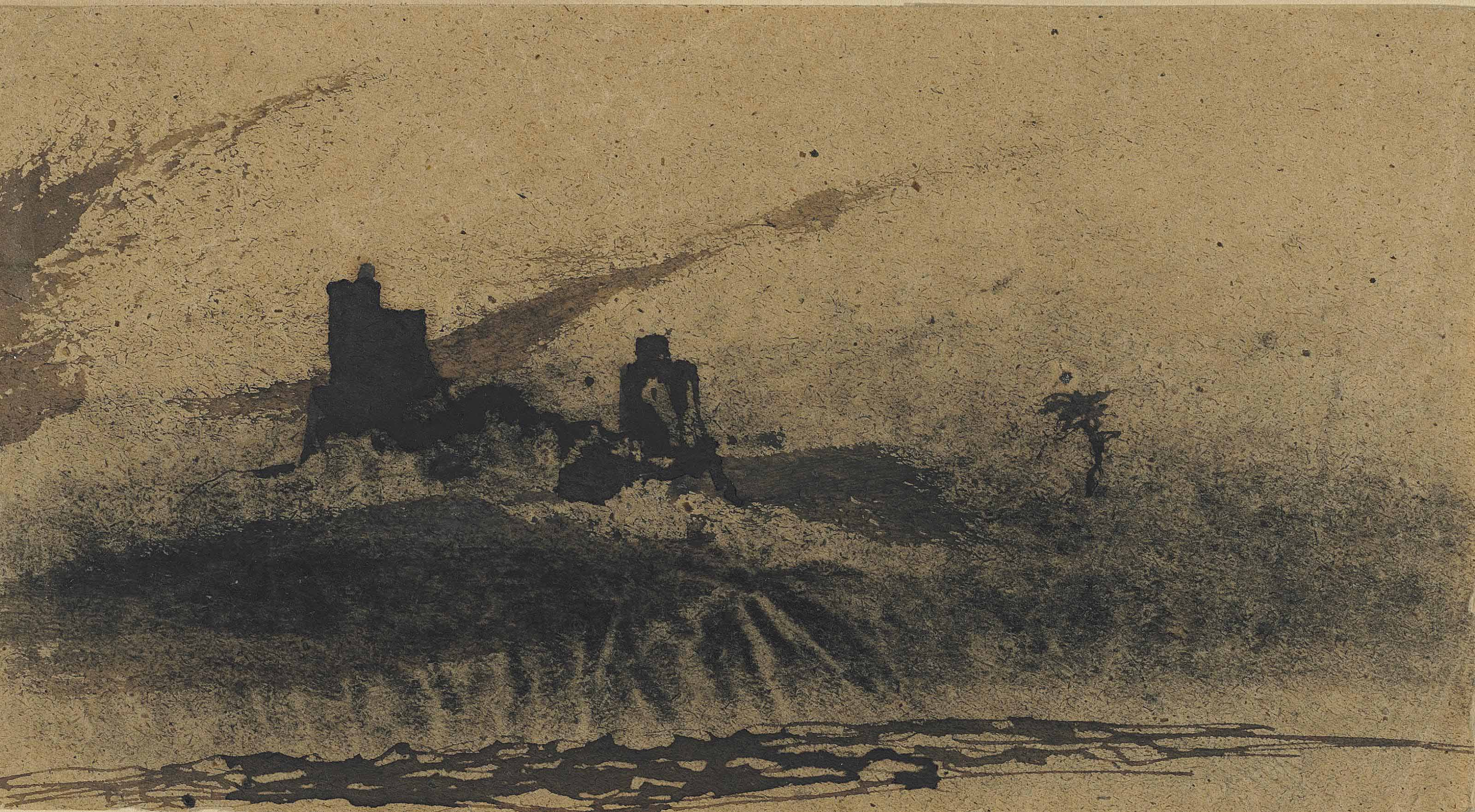 A castle on a cliff
