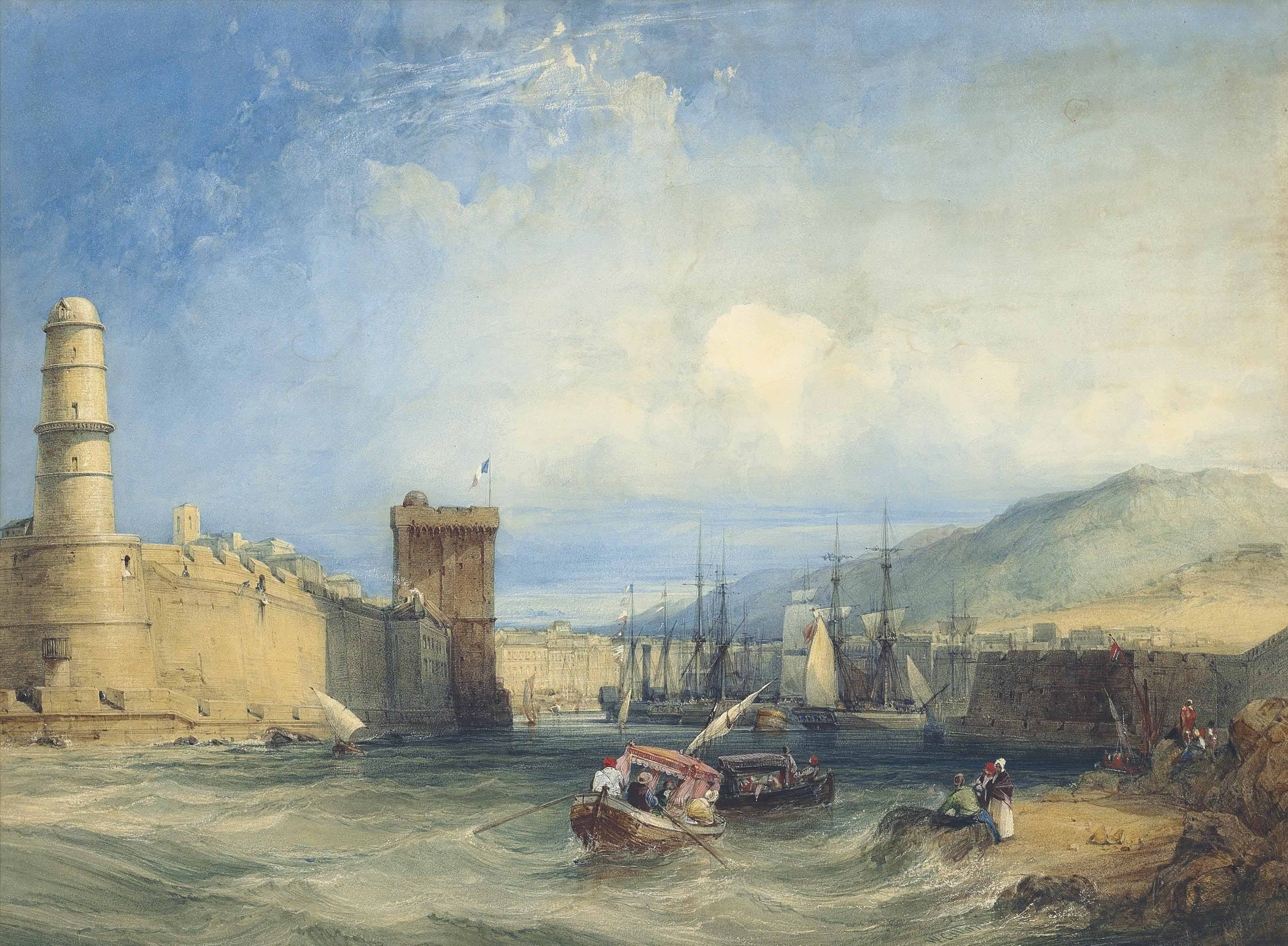 Entrance to the Port of Marseilles, France