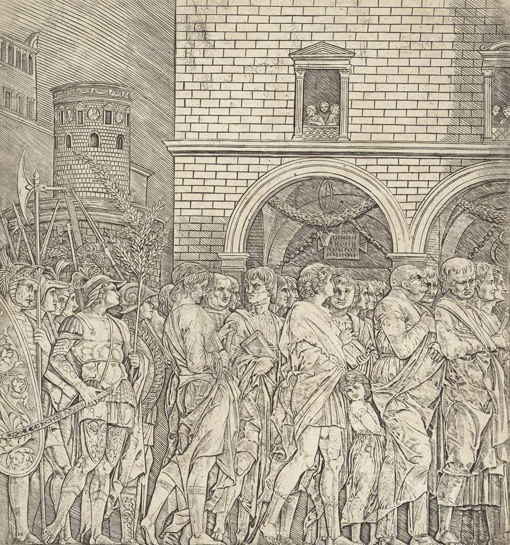 The Senators, from: The Triumph of Julius Caesar
