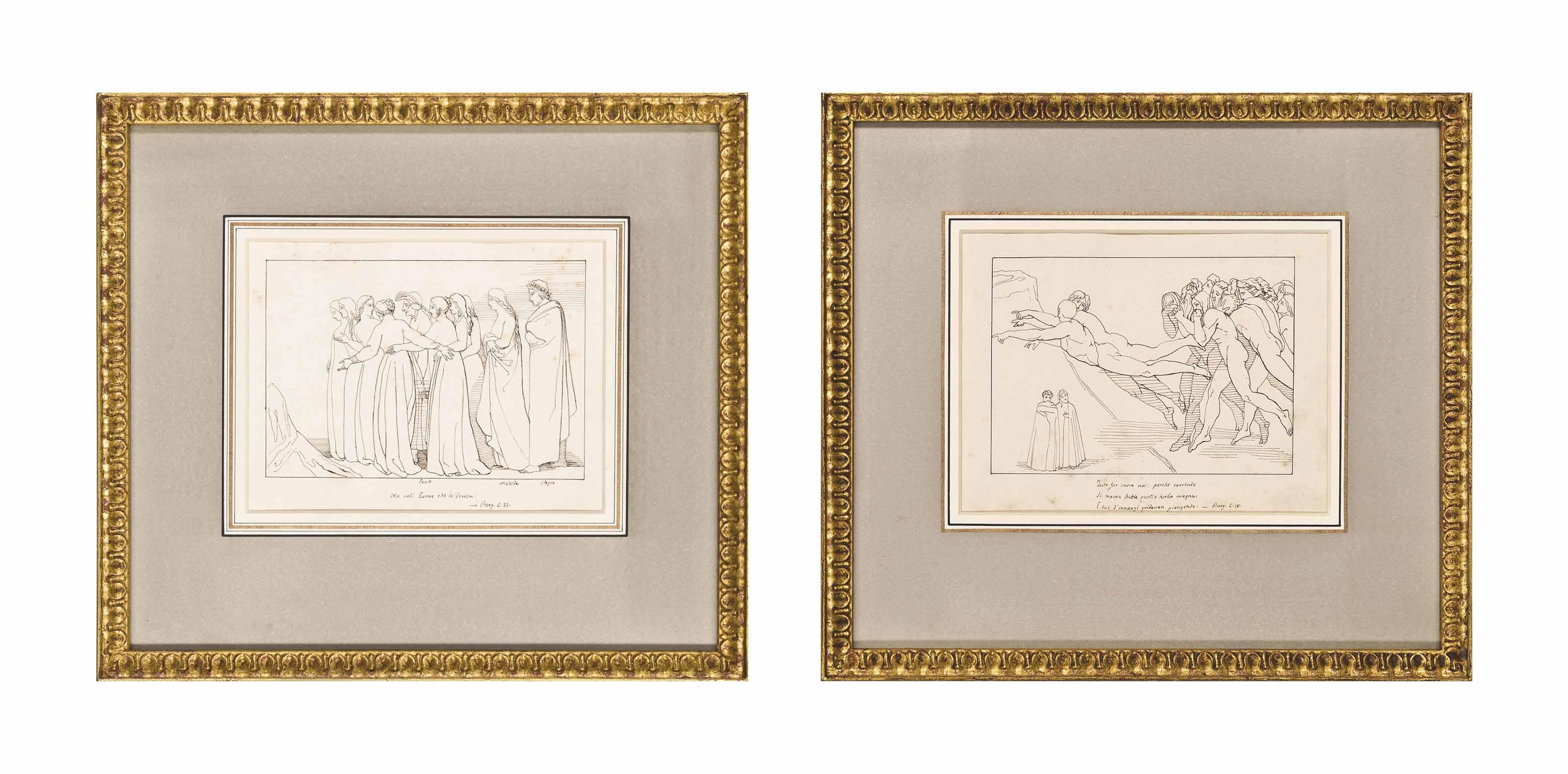 Illustrations to La Divinia Commedia di Dante Alighieri (two illustrated)