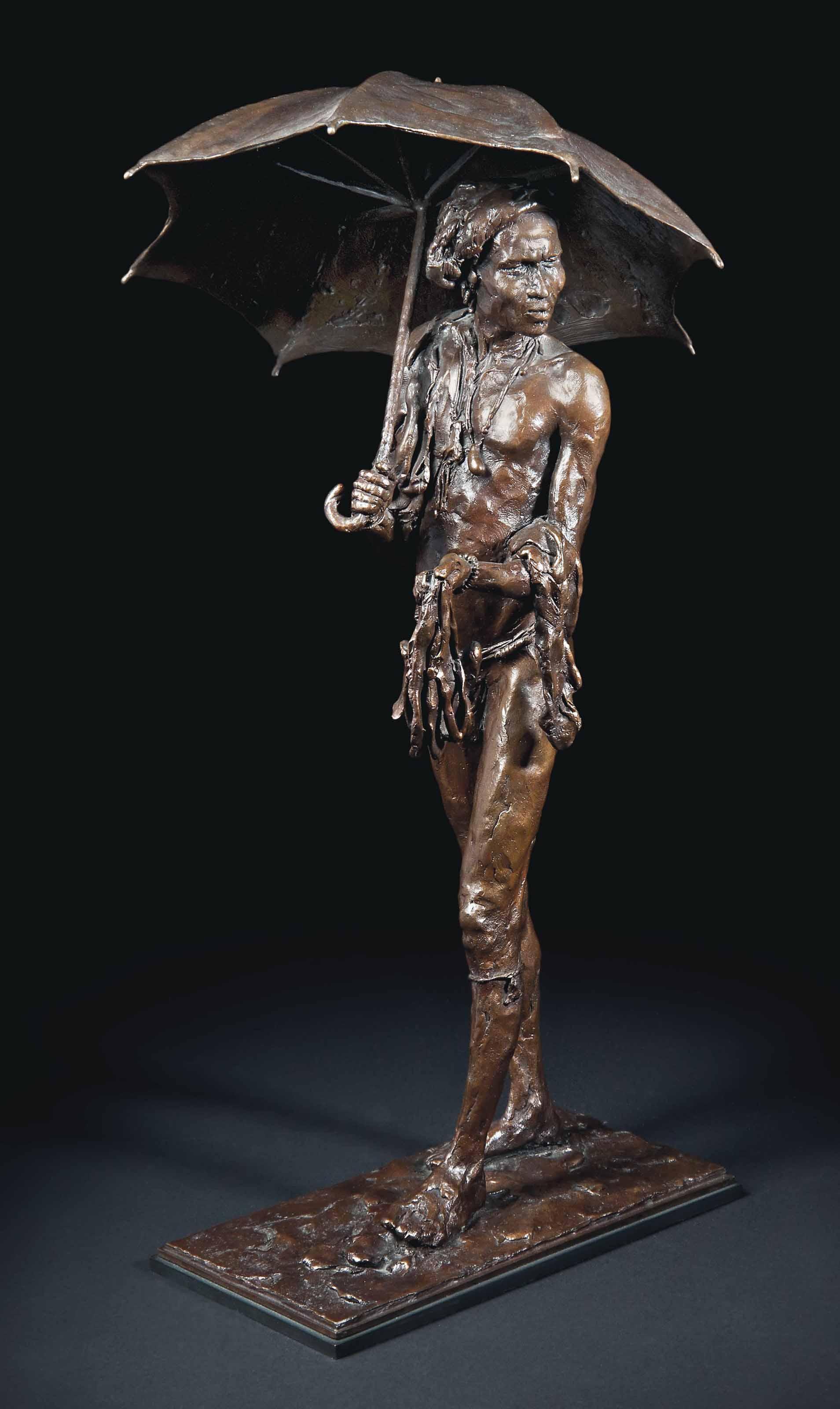 Tribesman with Umbrella