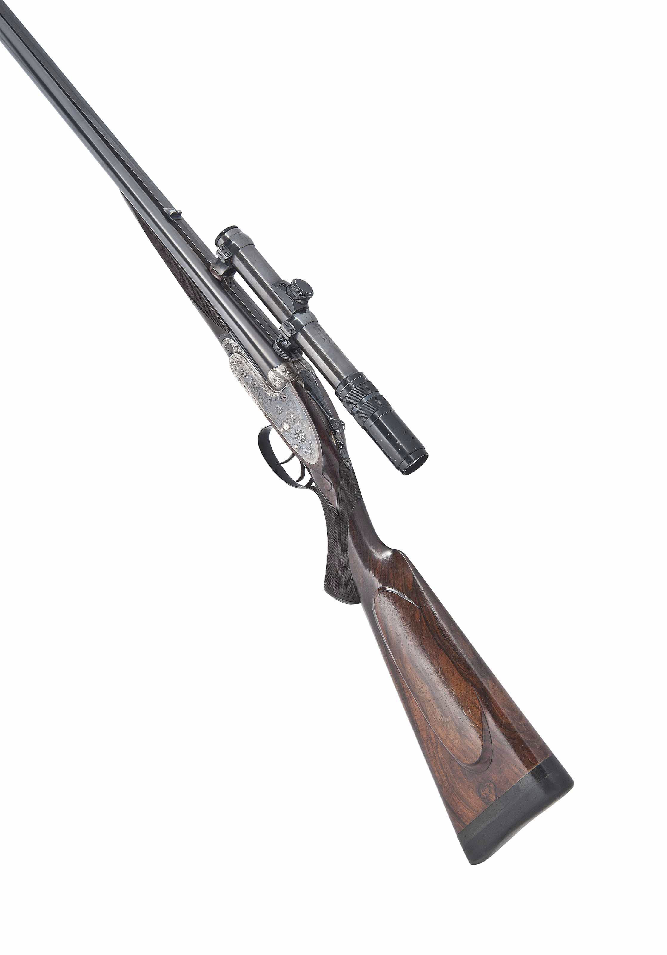A 9.3X74mmR SELF-OPENING SIDELOCK EJECTOR DOUBLE RIFLE