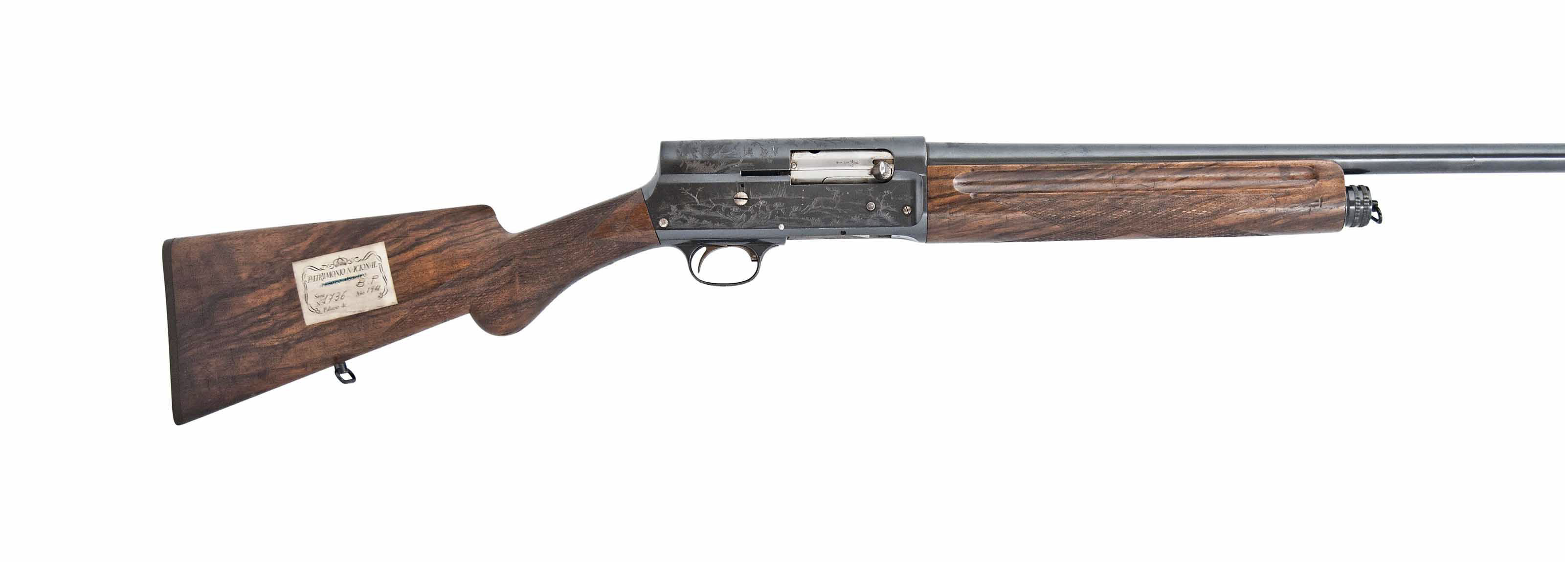 A FINE FACTORY ENGRAVED 12-BORE 'BROWNING'S PATENT' FIVE-SHOT SELF-LOADING SPORTING SHOTGUN