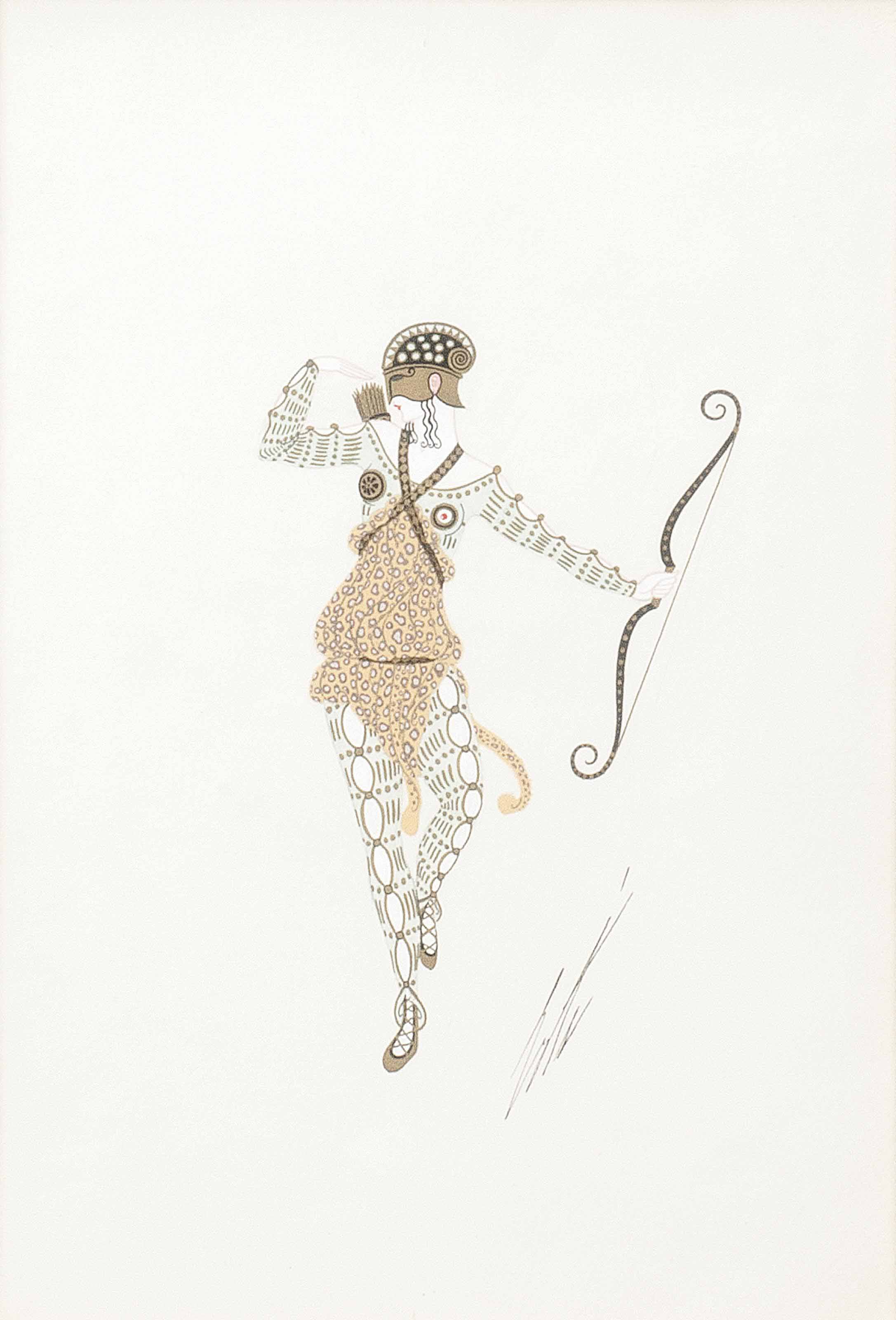 'Une Amazone' - A costume design for the Folies Bergere, 1924.