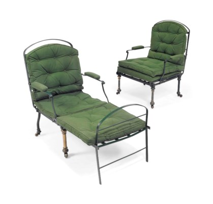 A PAIR OF VICTORIAN GREEN-PAIN