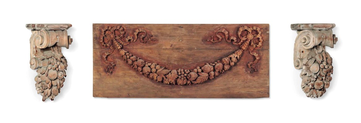 A PAIR OF CONTINENTAL CARVED L