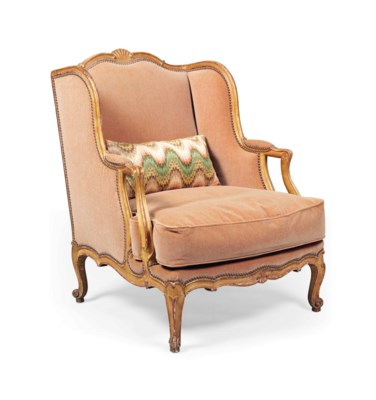 A LOUIS XV-STYLE  GILTWOOD BER