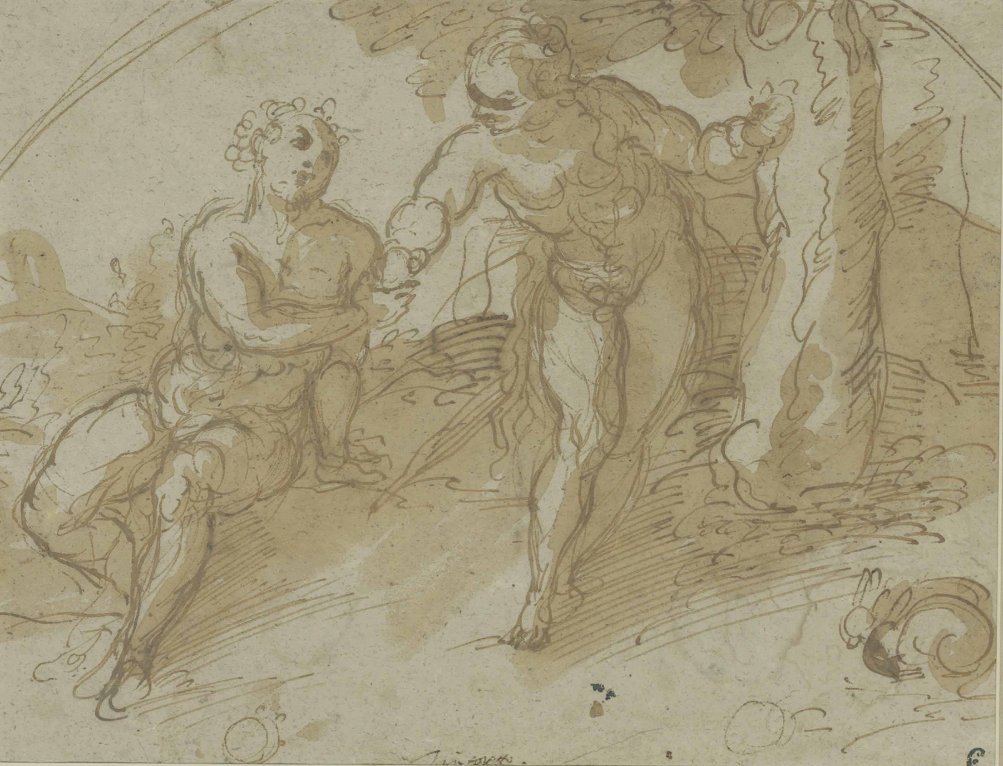 Adam and Eve (recto); Figure studies (verso)