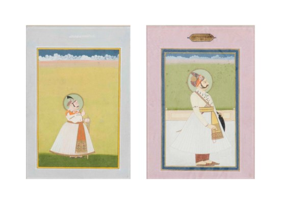 TWO PORTRAITS OF RAJAS