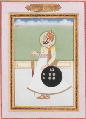 PORTRAIT OF MAN SINGH, MAHARAJ