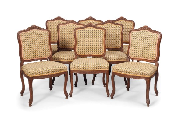 A SET OF EIGHT LOUIS XV-STYLE