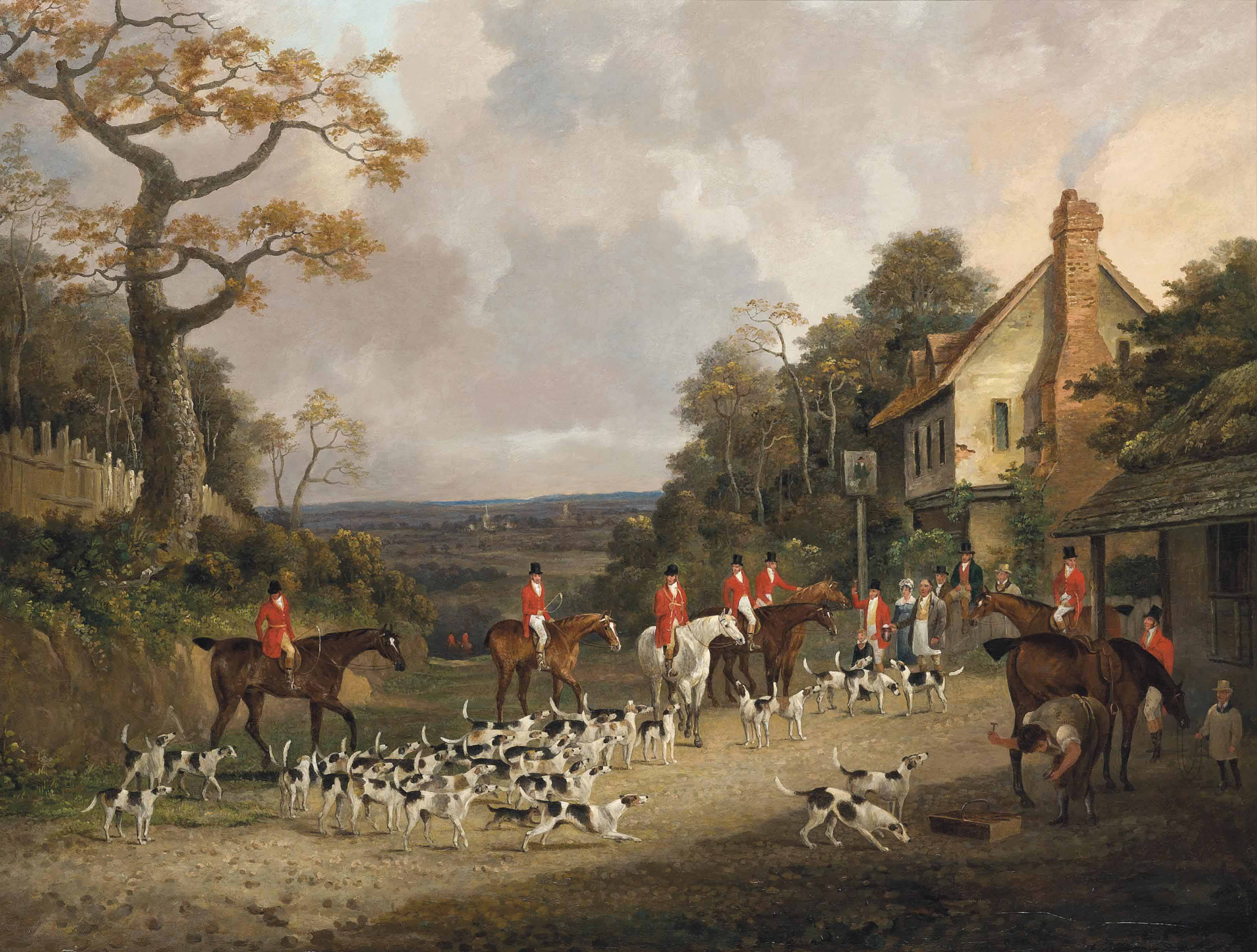 'The Creme o'th Chase', The Essex Hunt near Epping
