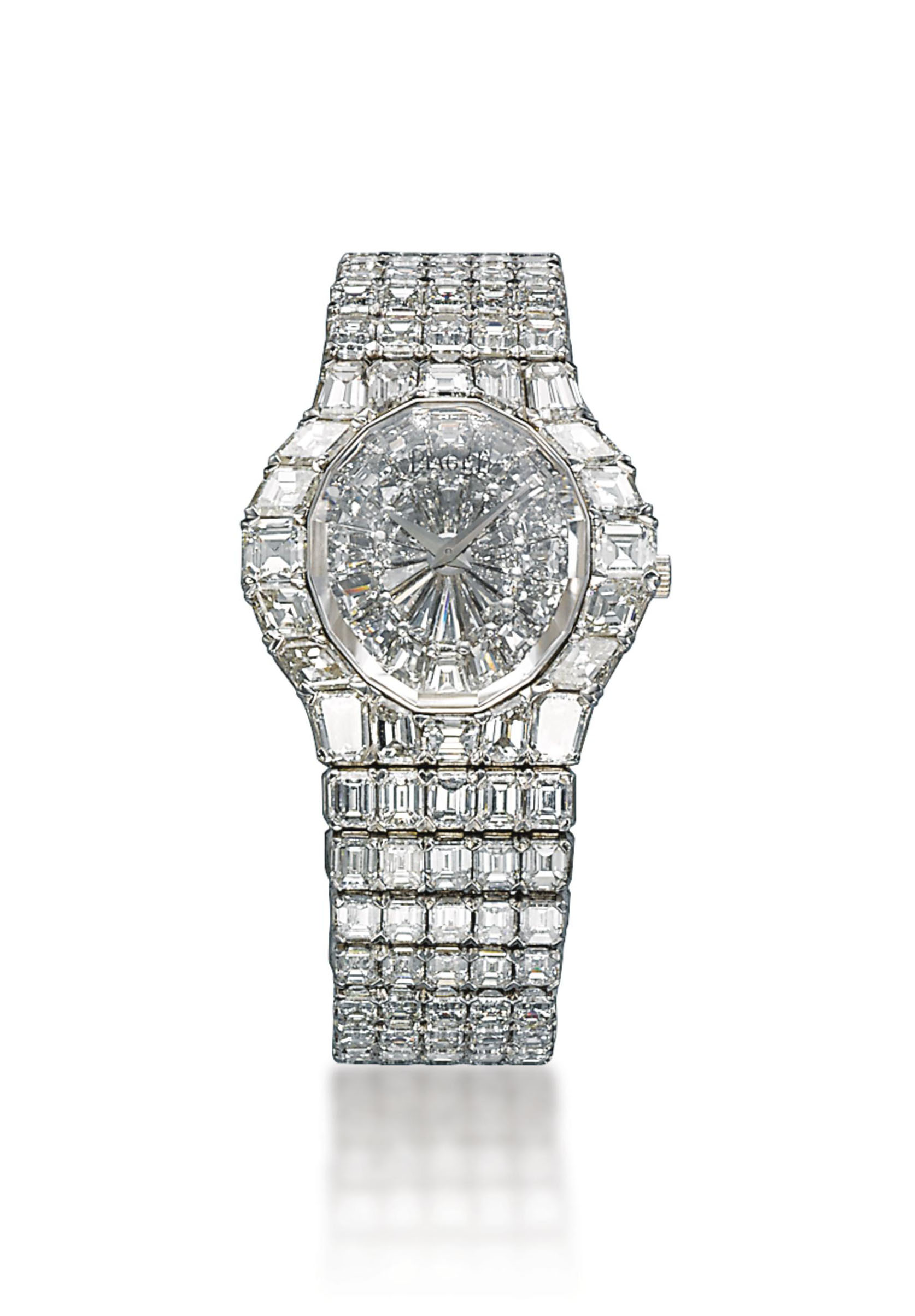 A LADY'S DIAMOND 'AURA' BRACELET-WATCH, BY PIAGET