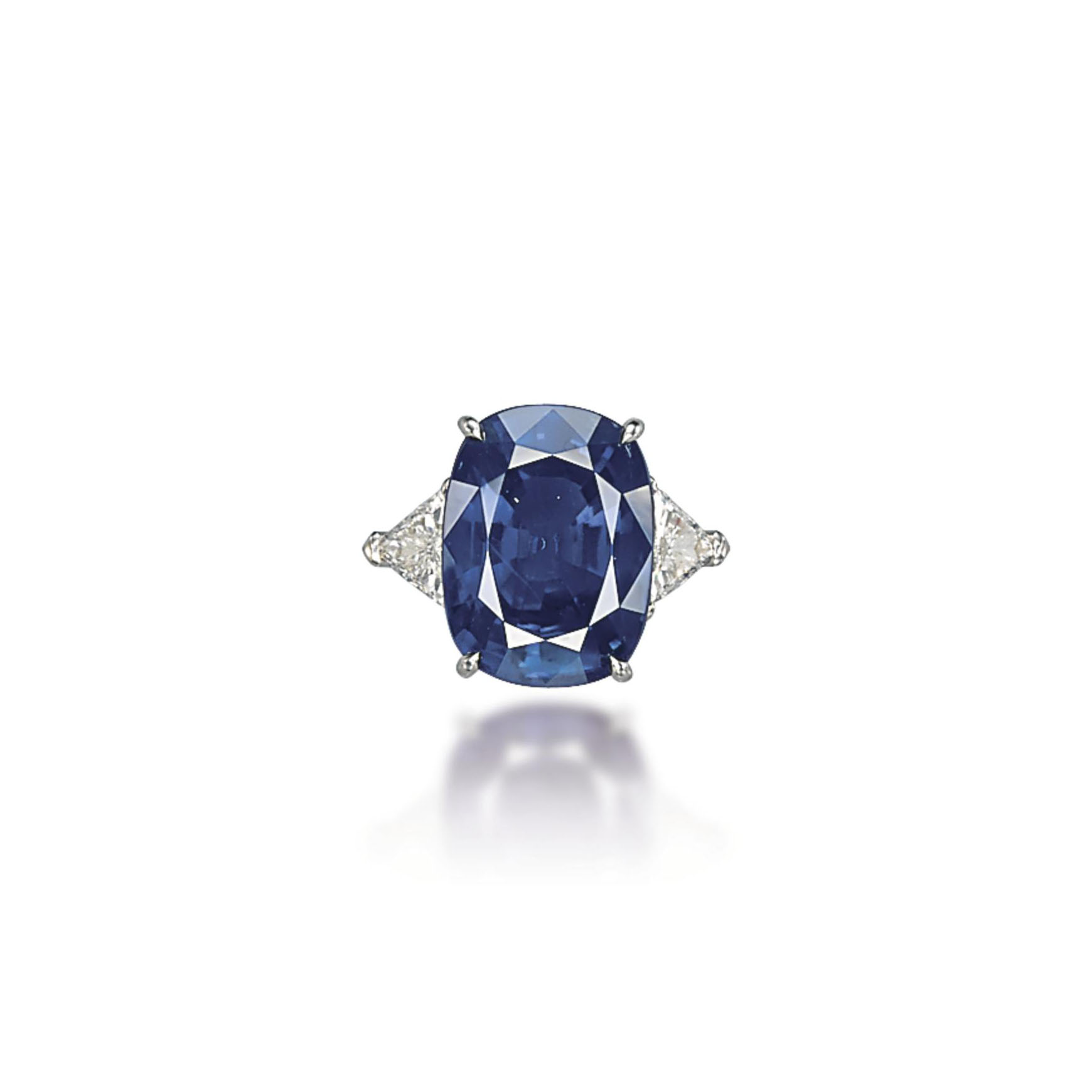 A SAPPHIRE AND DIAMOND RING, BY CHATILA