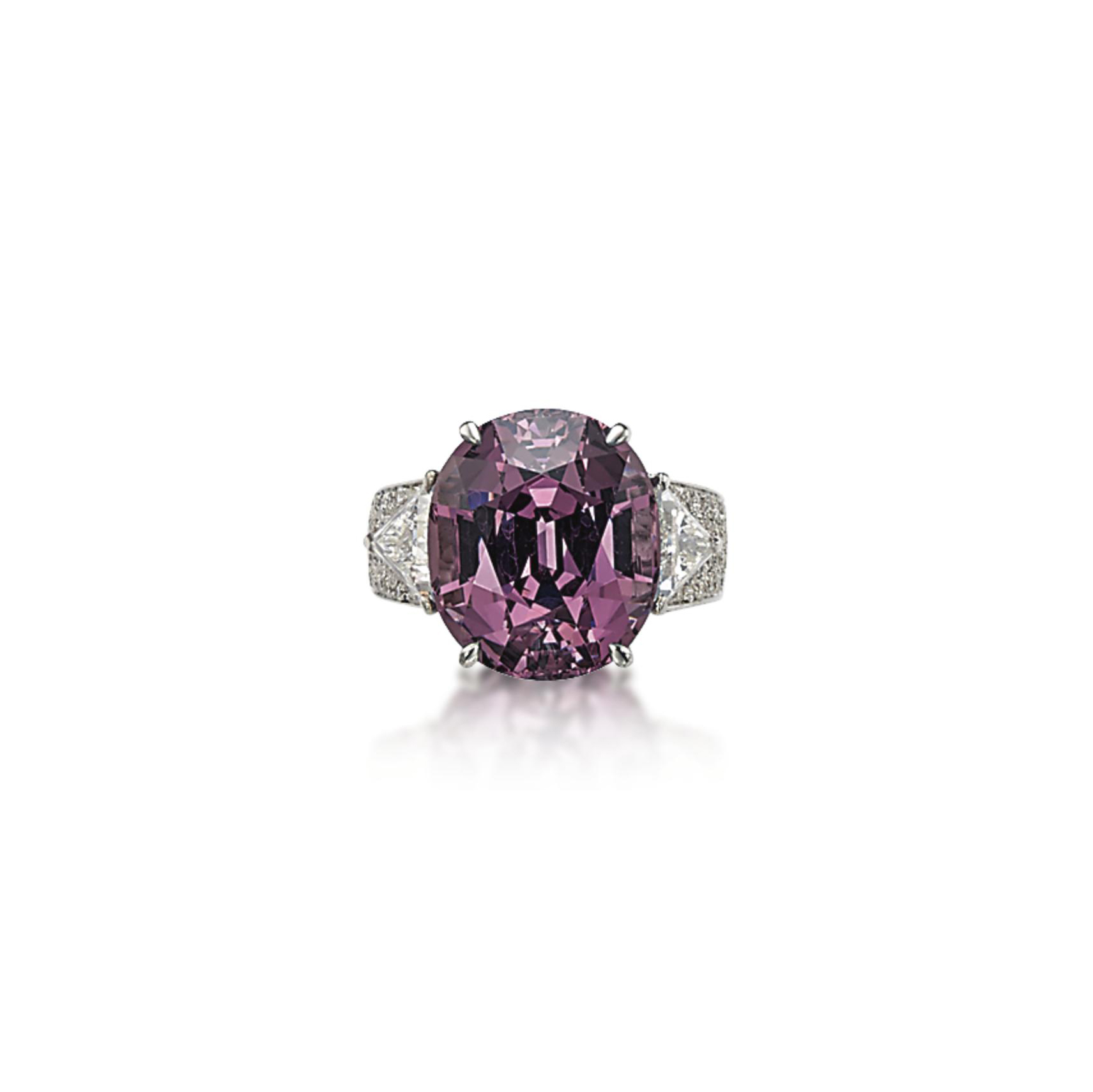 A SPINEL AND DIAMOND RING, BY SABBADINI