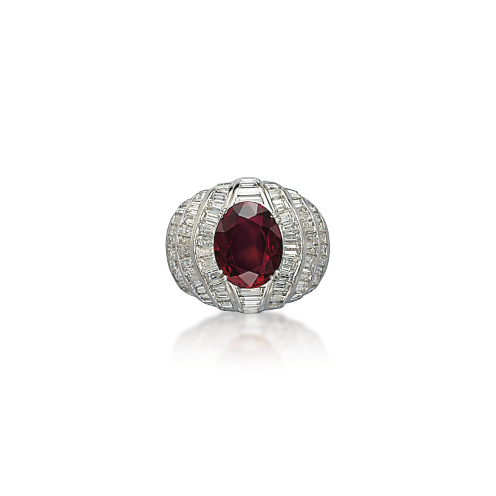 A RUBY AND DIAMOND RING, BY FASANO