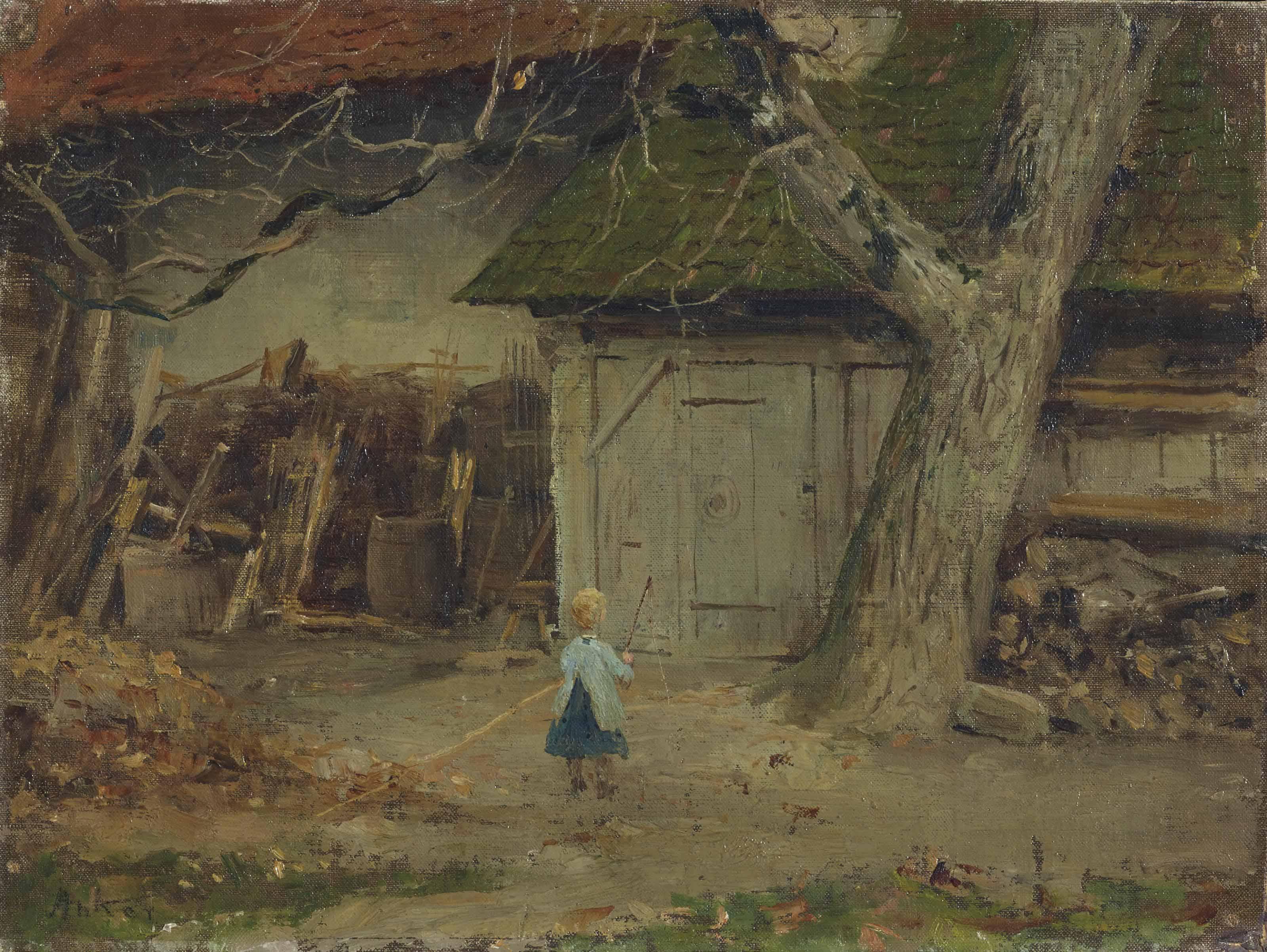 Bauernhof, um 1869