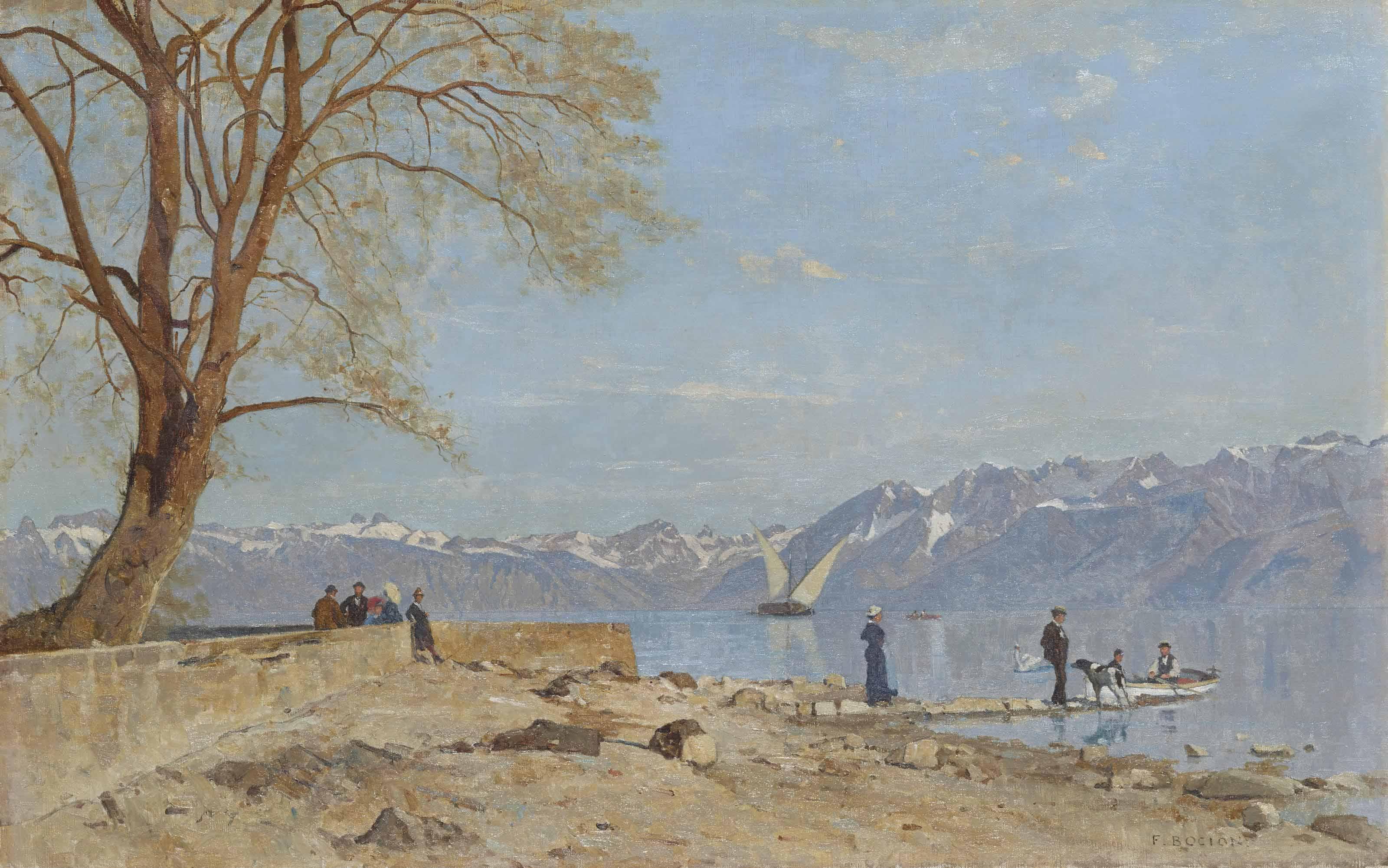 Le Grand Lac vu du quai d'Ouchy, 1887