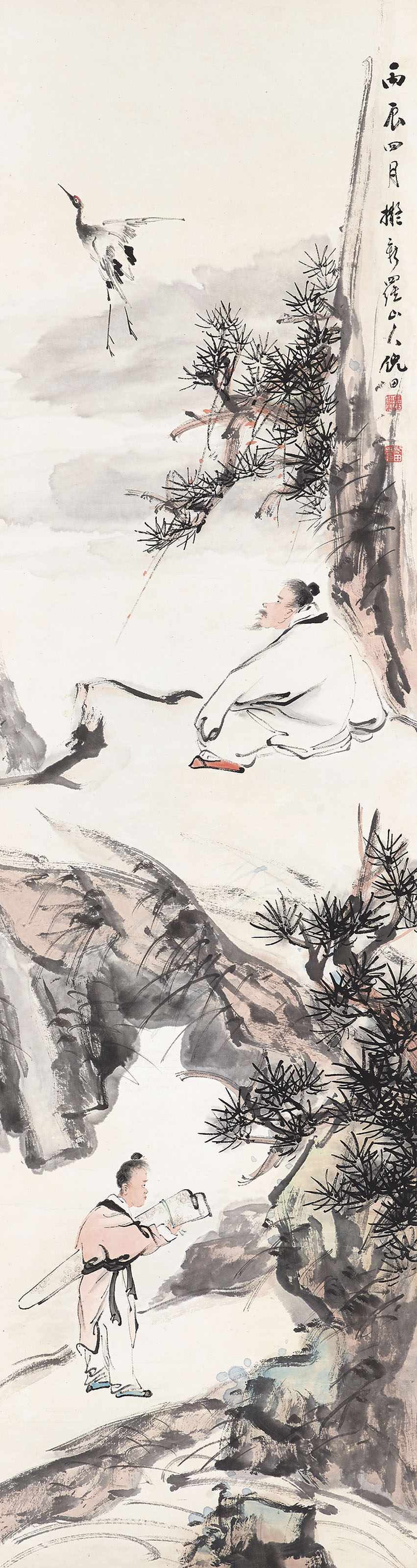 Figures in the style of Hua Yan