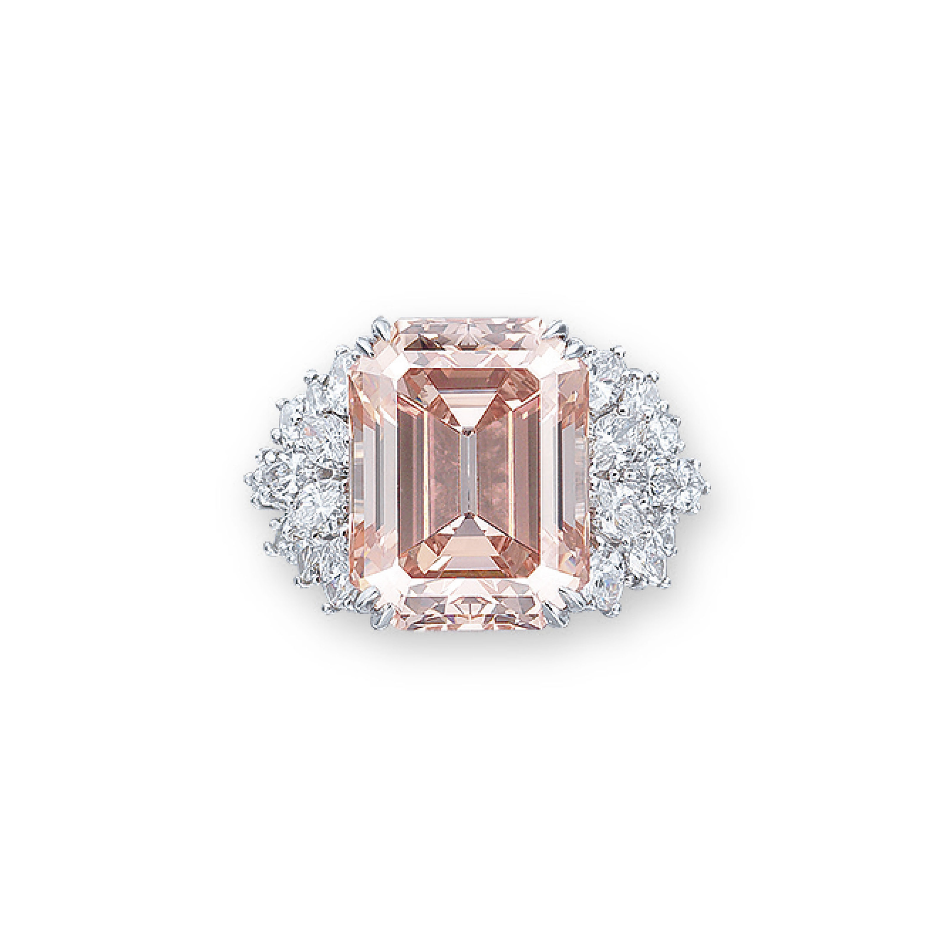 A RARE COLOURED DIAMOND AND DIAMOND RING, BY HARRY WINSTON