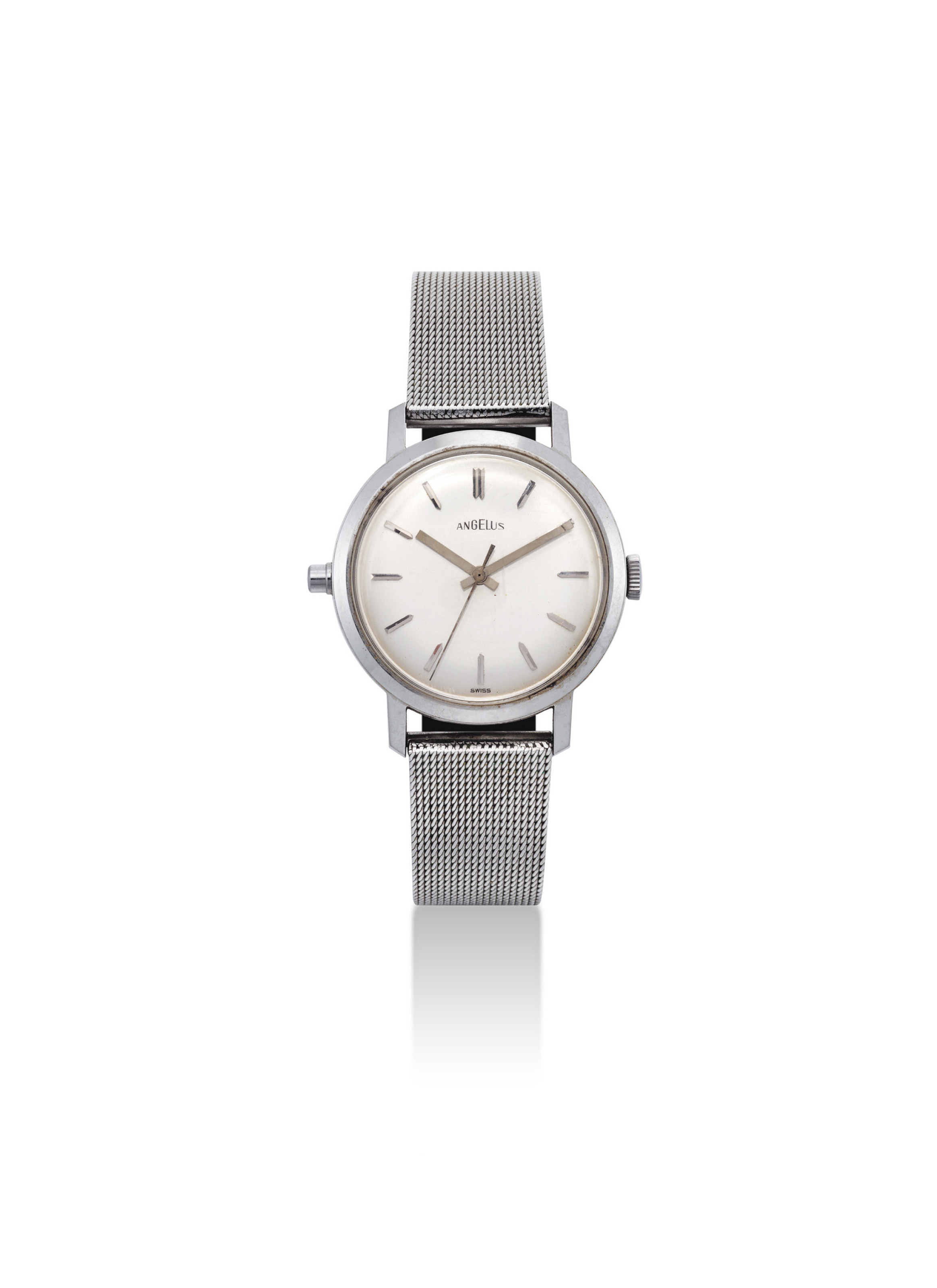 ANGELUS. A STAINLESS STEEL AUTOMATIC QUARTER REPEATING WRISTWATCH WITH SWEEP CENTRE SECONDS