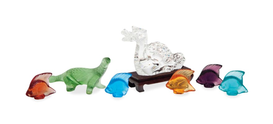 A GROUP OF FRENCH GLASS ANIMAL