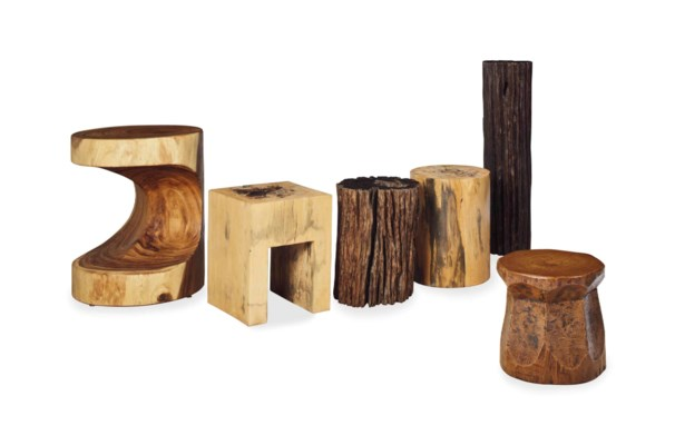 A GROUP OF FIVE AMERICAN CARVE