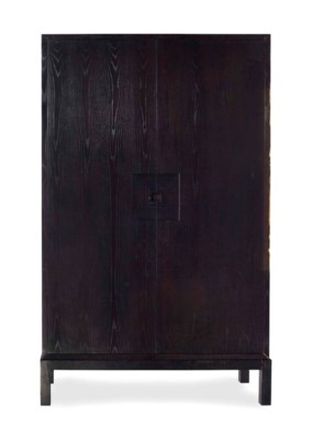 A CHINESE EBONIZED WARDROBE CA
