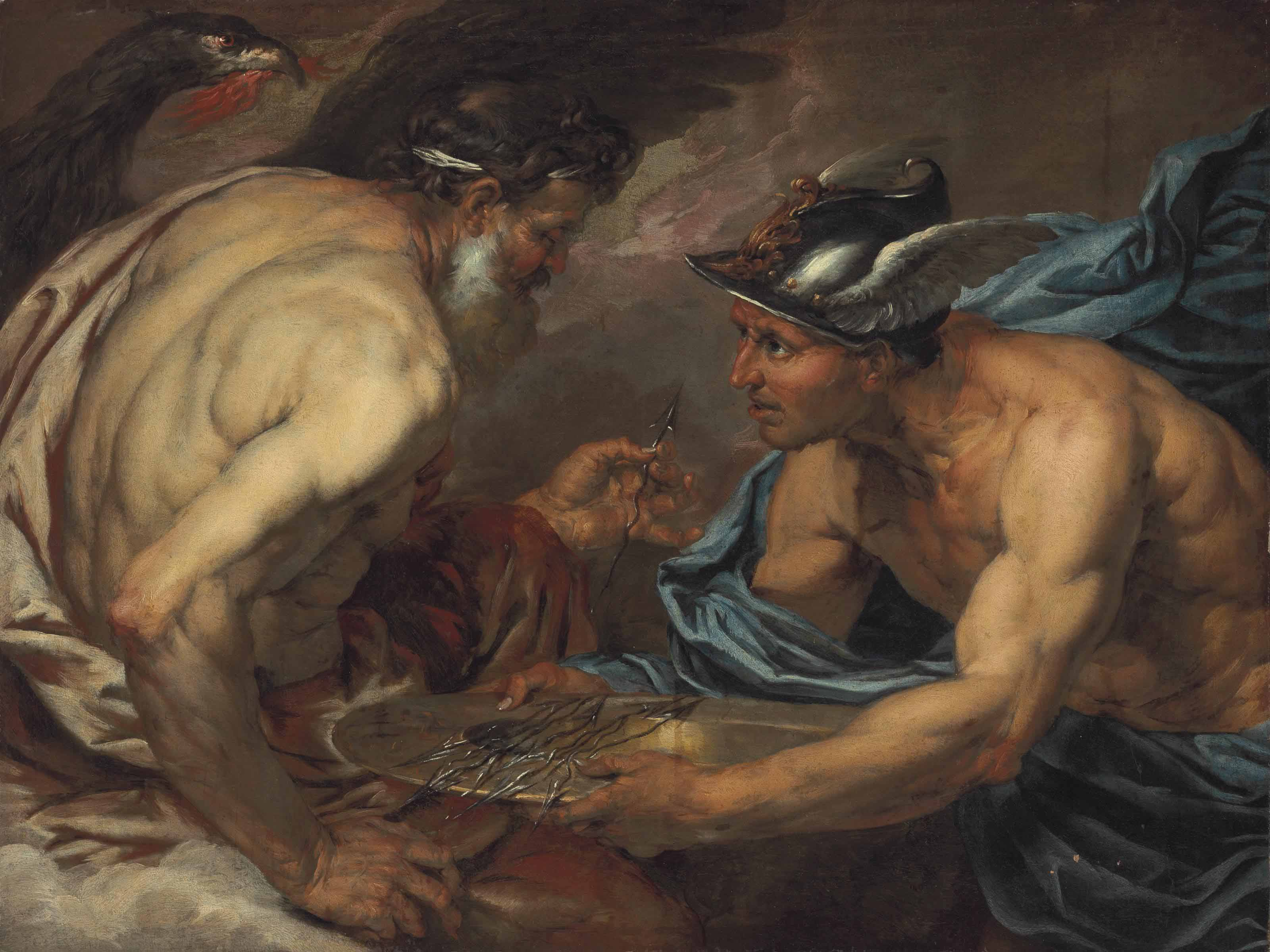 Mercury presenting thunderbolts to Jupiter